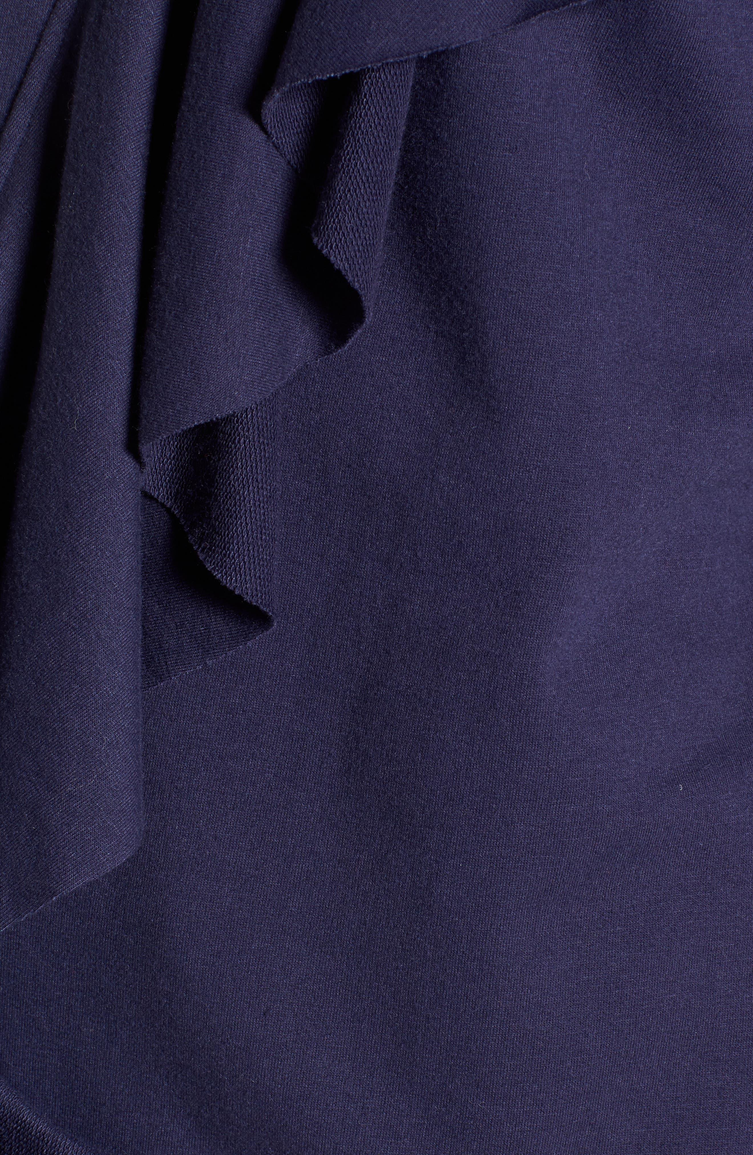 Asymmetrical Ruffle Sweatshirt,                             Alternate thumbnail 5, color,                             400