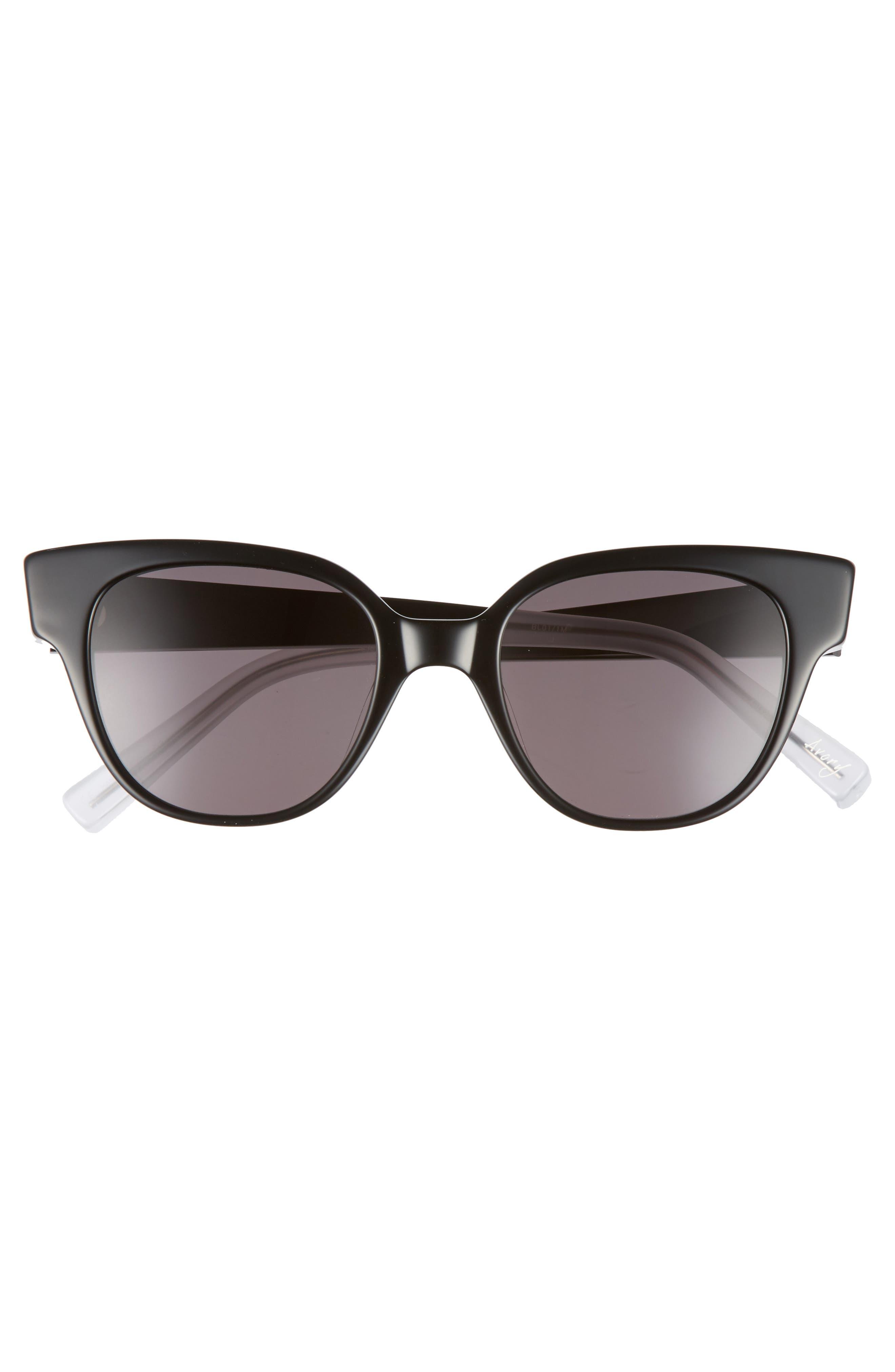 Avory 49mm Cat Eye Sunglasses,                             Alternate thumbnail 3, color,                             001