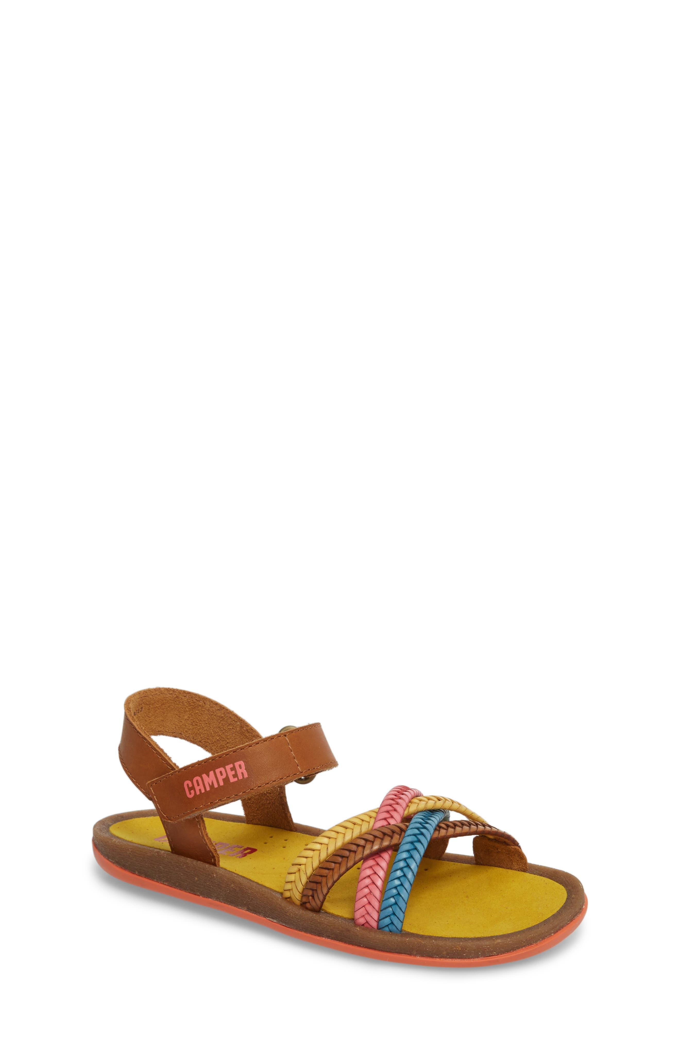 Bicho Braided Sandal,                             Main thumbnail 1, color,                             MULTI