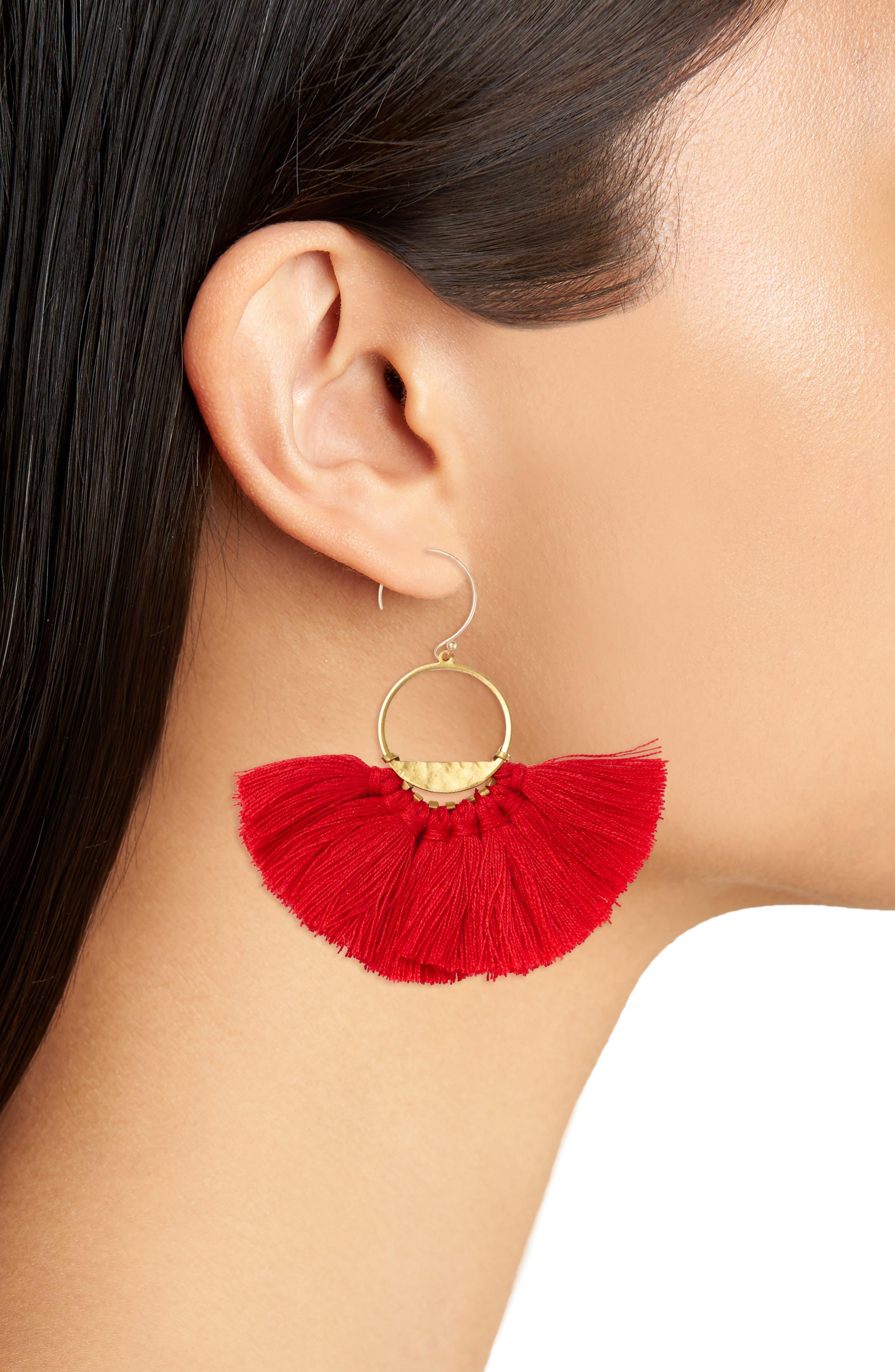 Flutter Tassel Earrings,                             Alternate thumbnail 8, color,