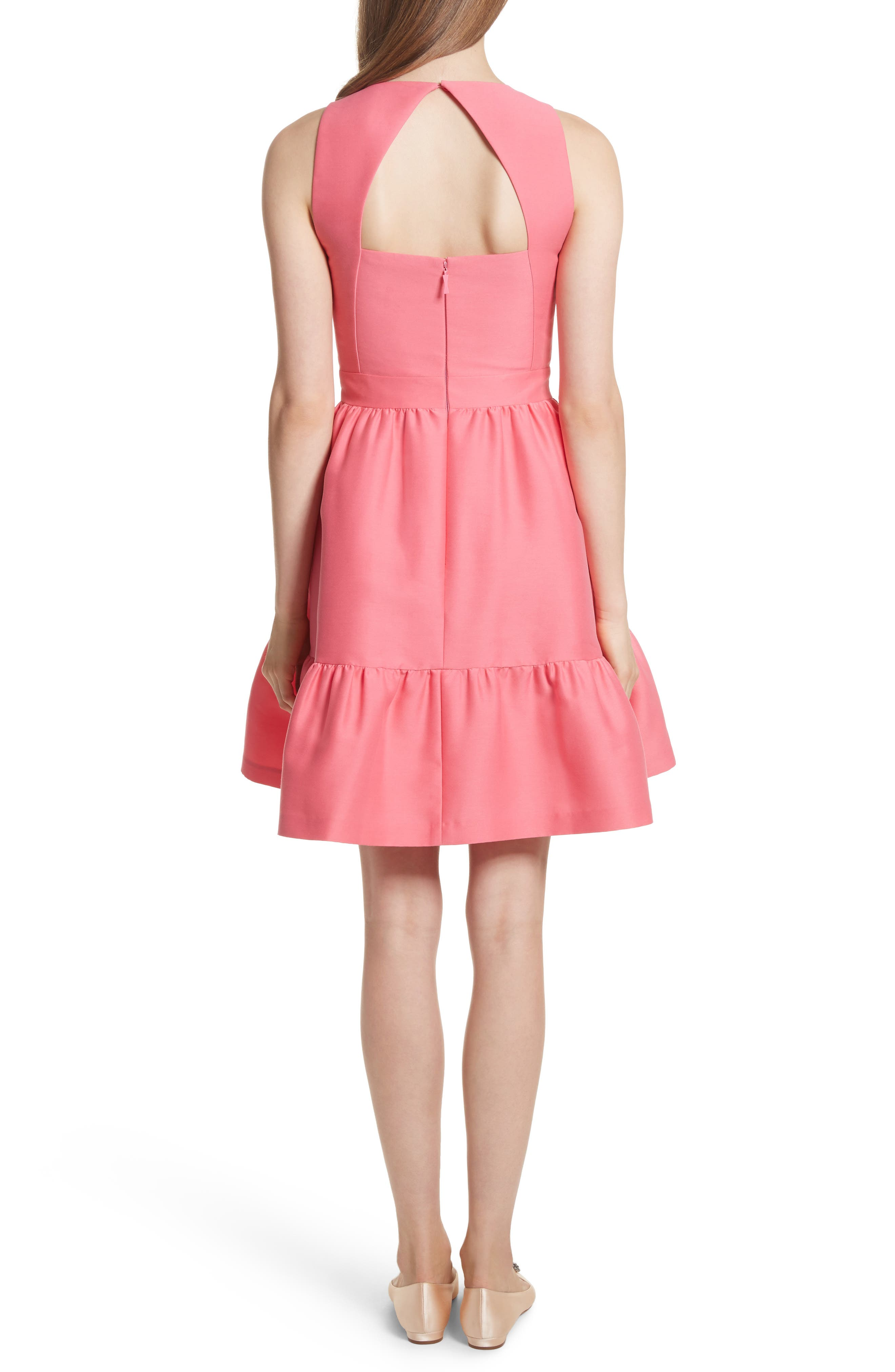 embellished mikado fit-and-flare dress,                             Alternate thumbnail 2, color,                             682