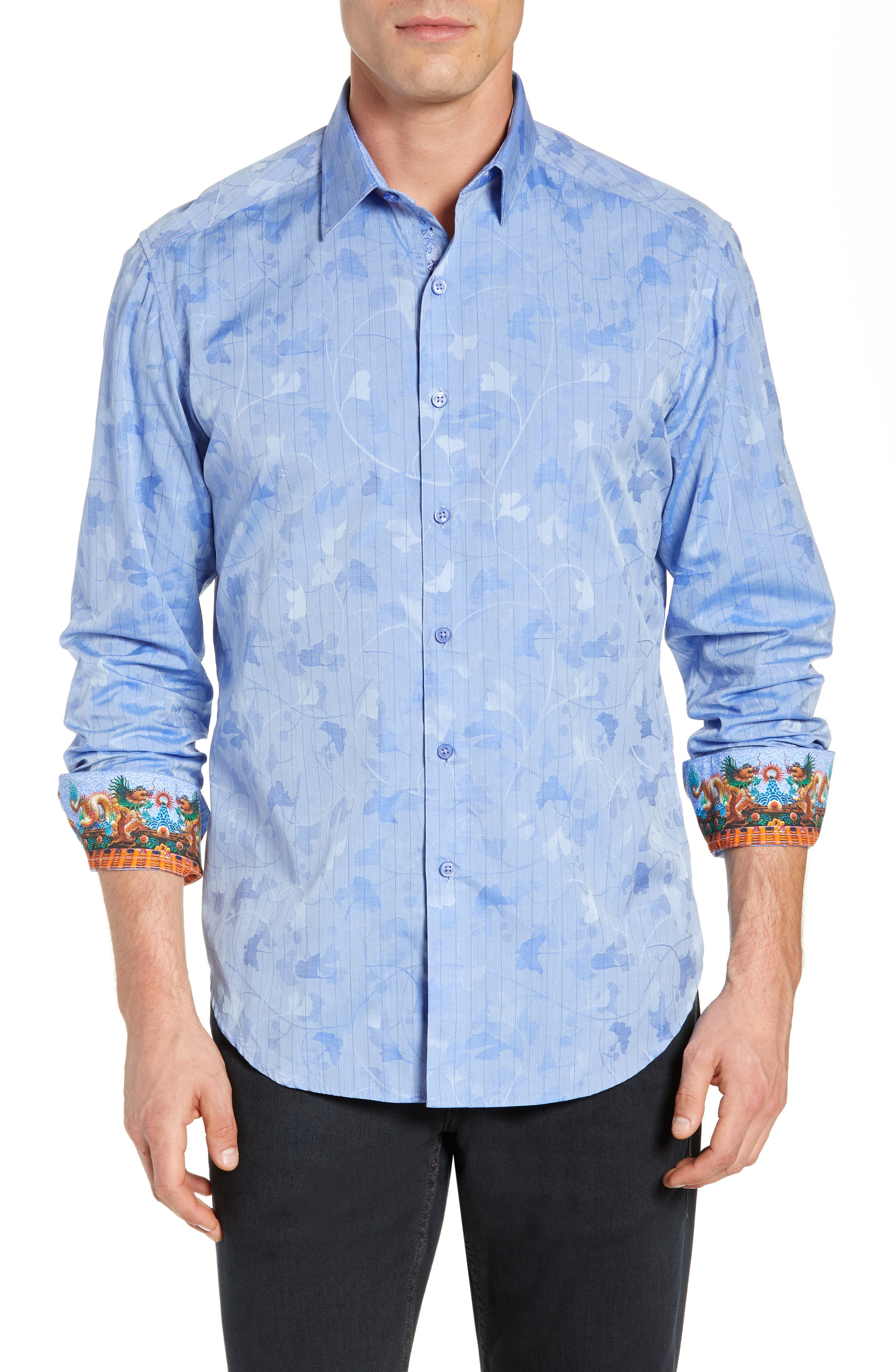 Aoki Classic Fit Sport Shirt, Main, color, BLUE