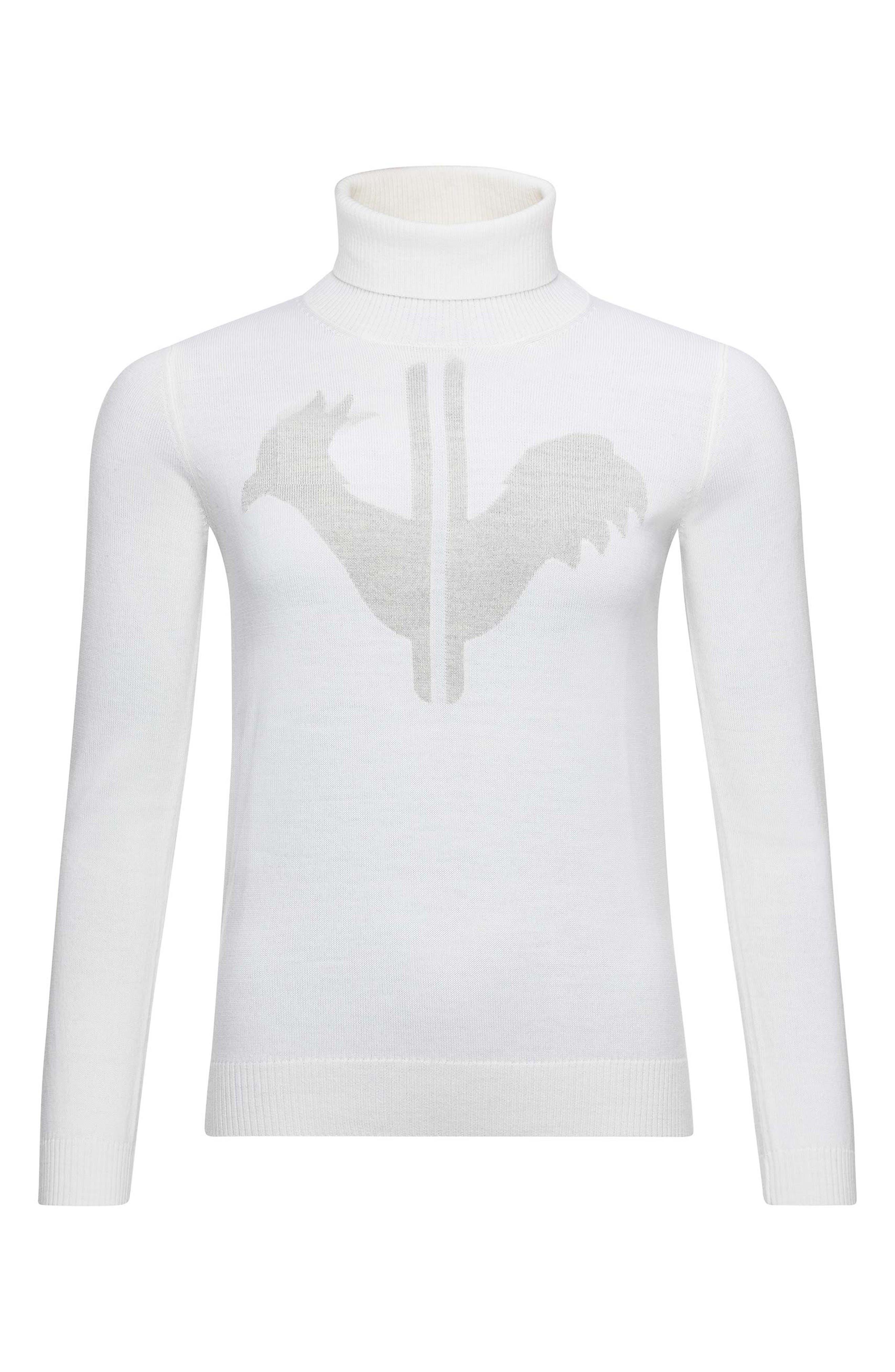 Rossignol Classique Tailored Fit Merino Wool Ski Sweater, White