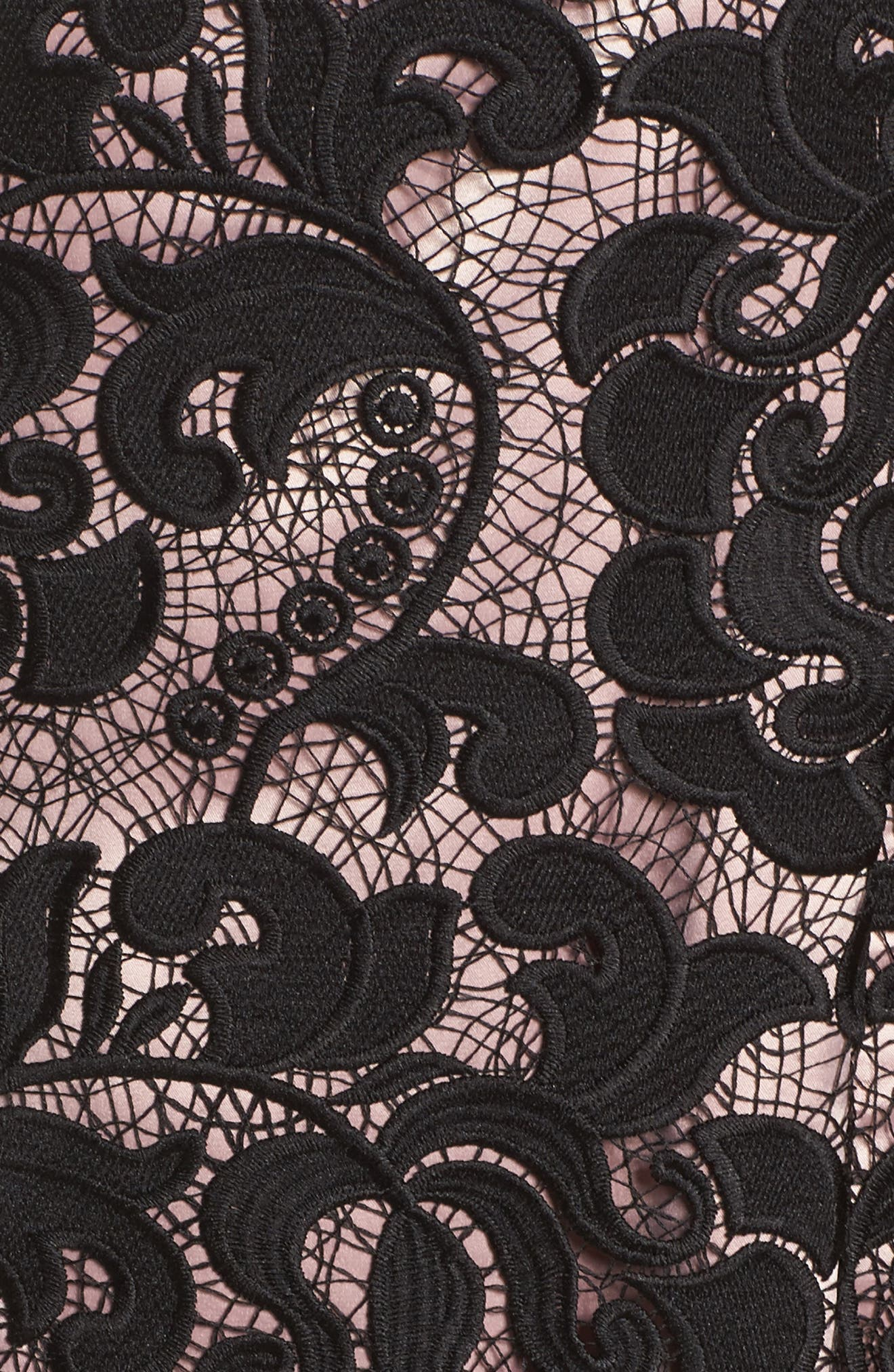 Lace Sheath Dress,                             Alternate thumbnail 5, color,                             001