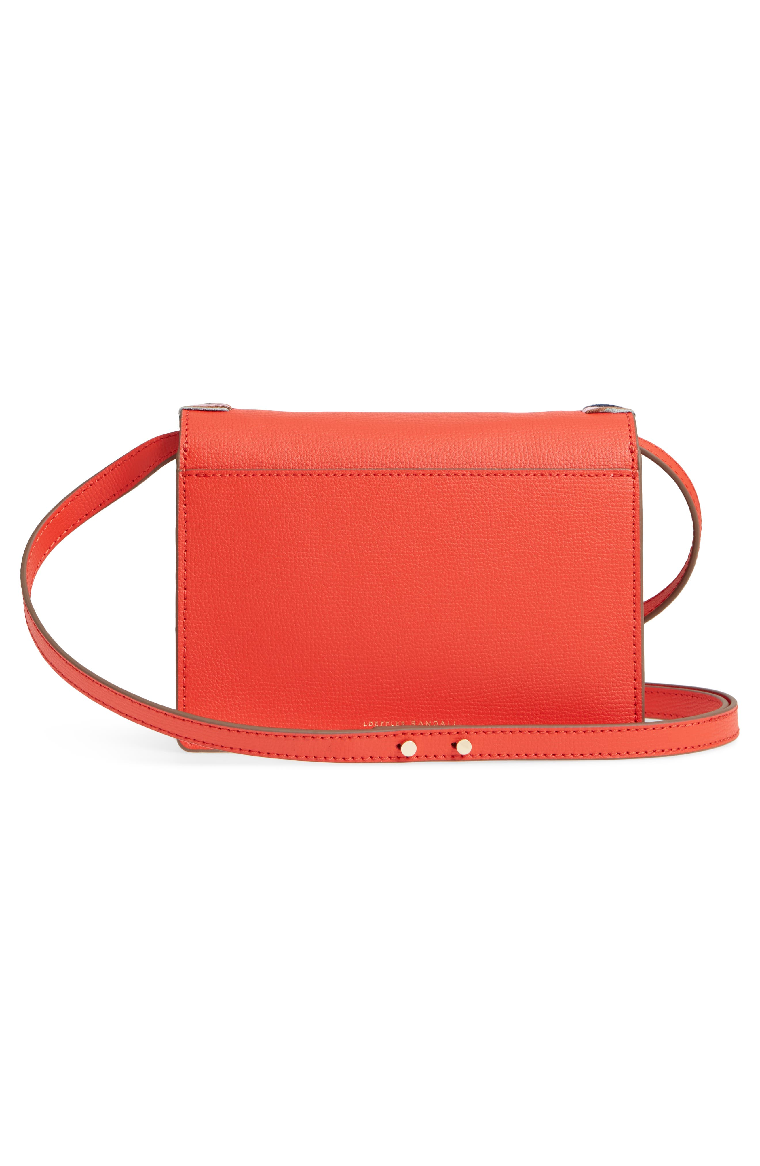 Mini Minimal Rider Leather Crossbody,                             Alternate thumbnail 3, color,                             802
