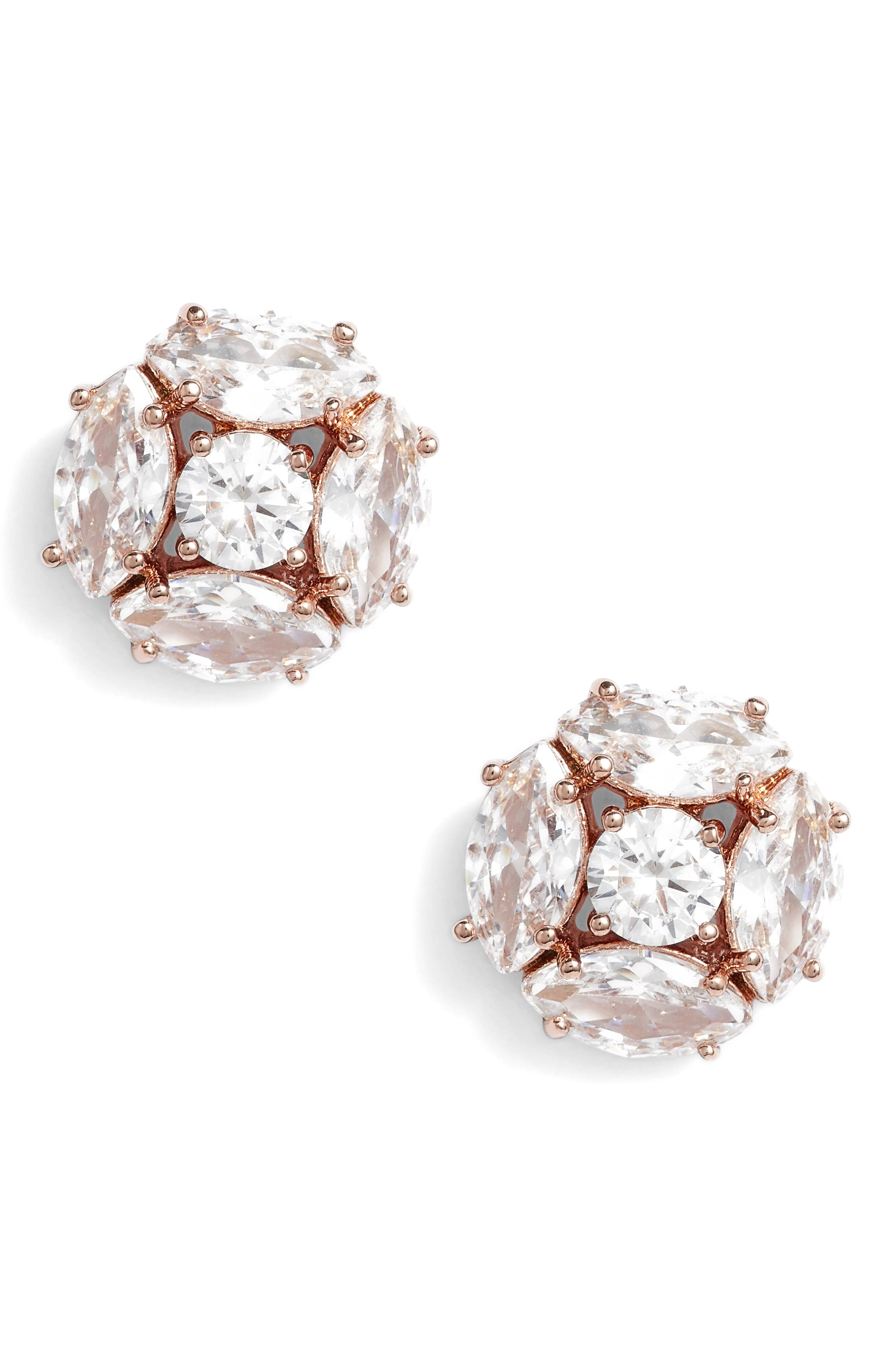 flying colors marquise cluster earrings,                             Main thumbnail 3, color,