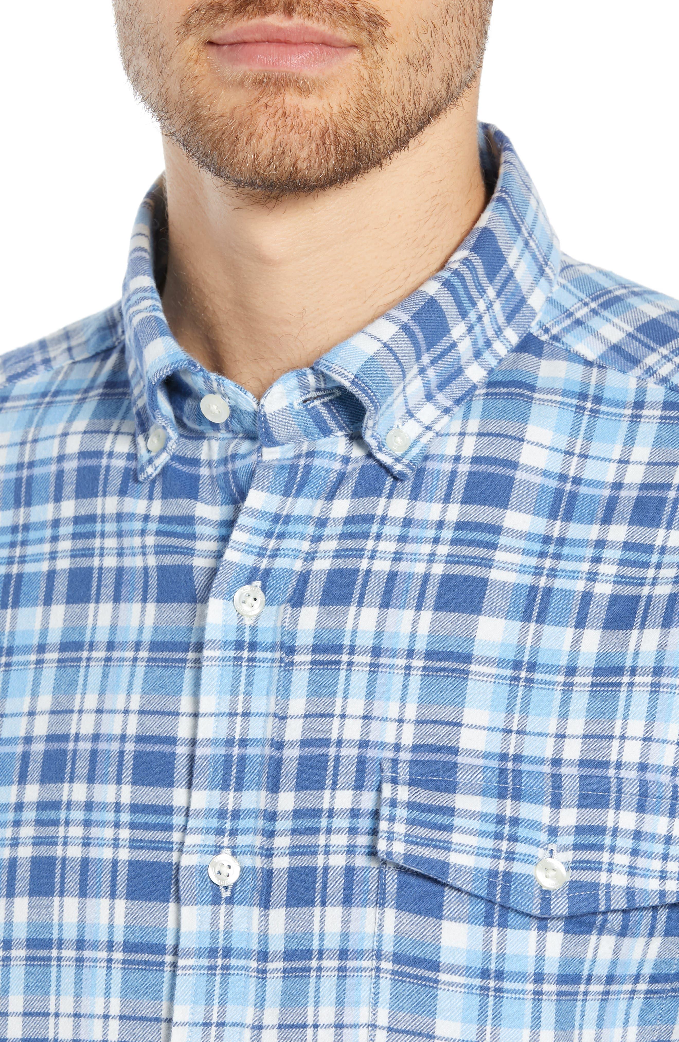 Mill Hill Regular Fit Plaid Flannel Shirt,                             Alternate thumbnail 2, color,                             MOONSHINE