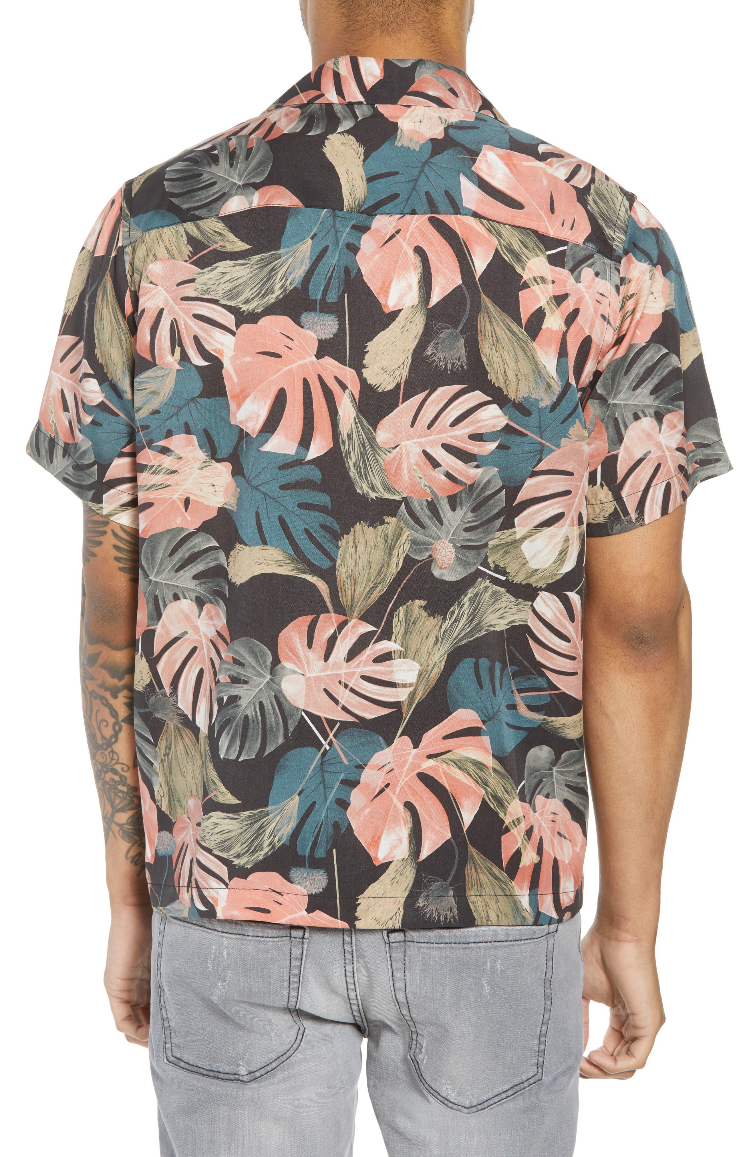 Canty Monstera Camp Shirt,                             Alternate thumbnail 2, color,                             001