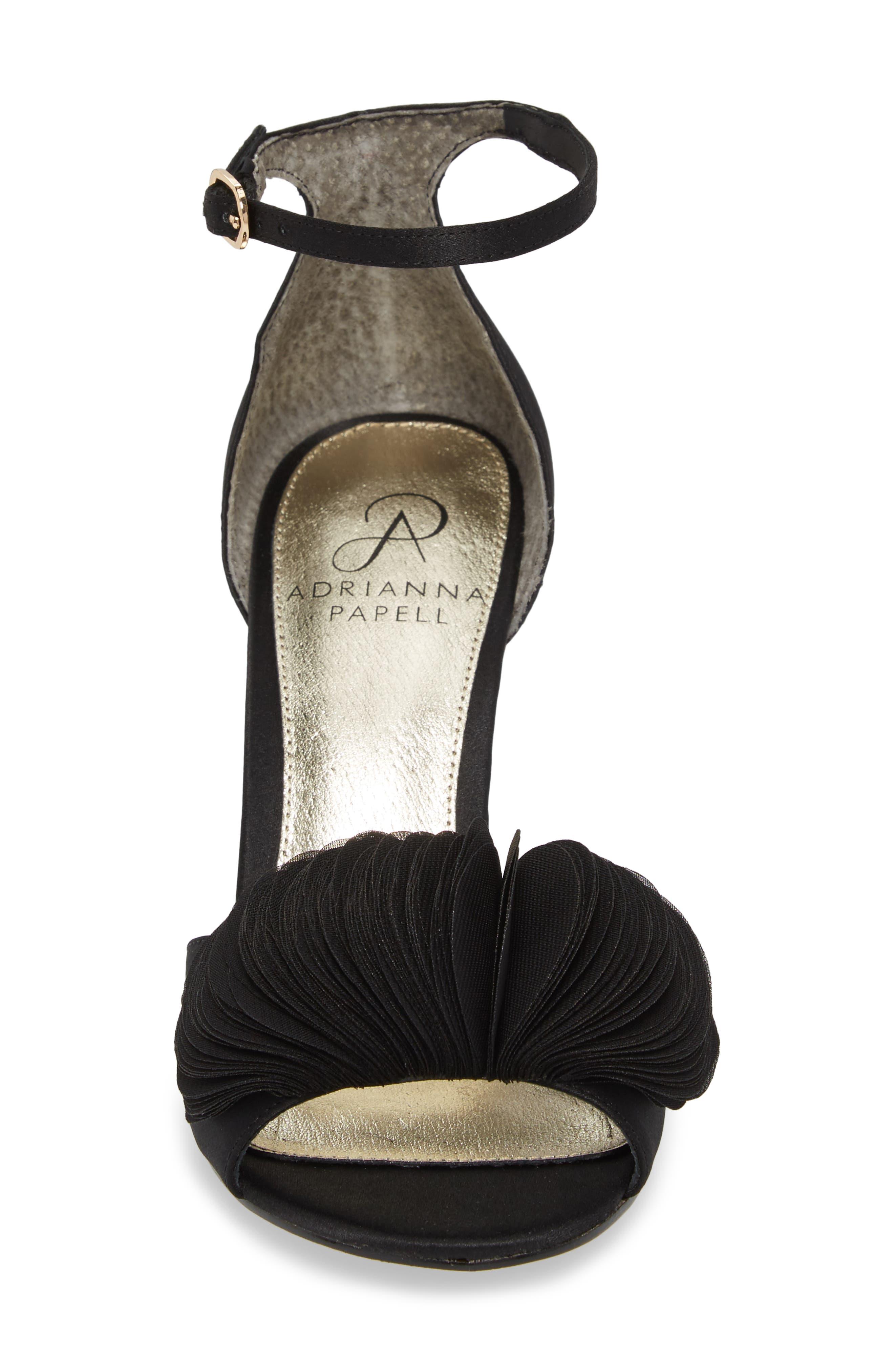 Gracie Ankle Strap Sandal,                             Alternate thumbnail 4, color,                             BLACK FABRIC