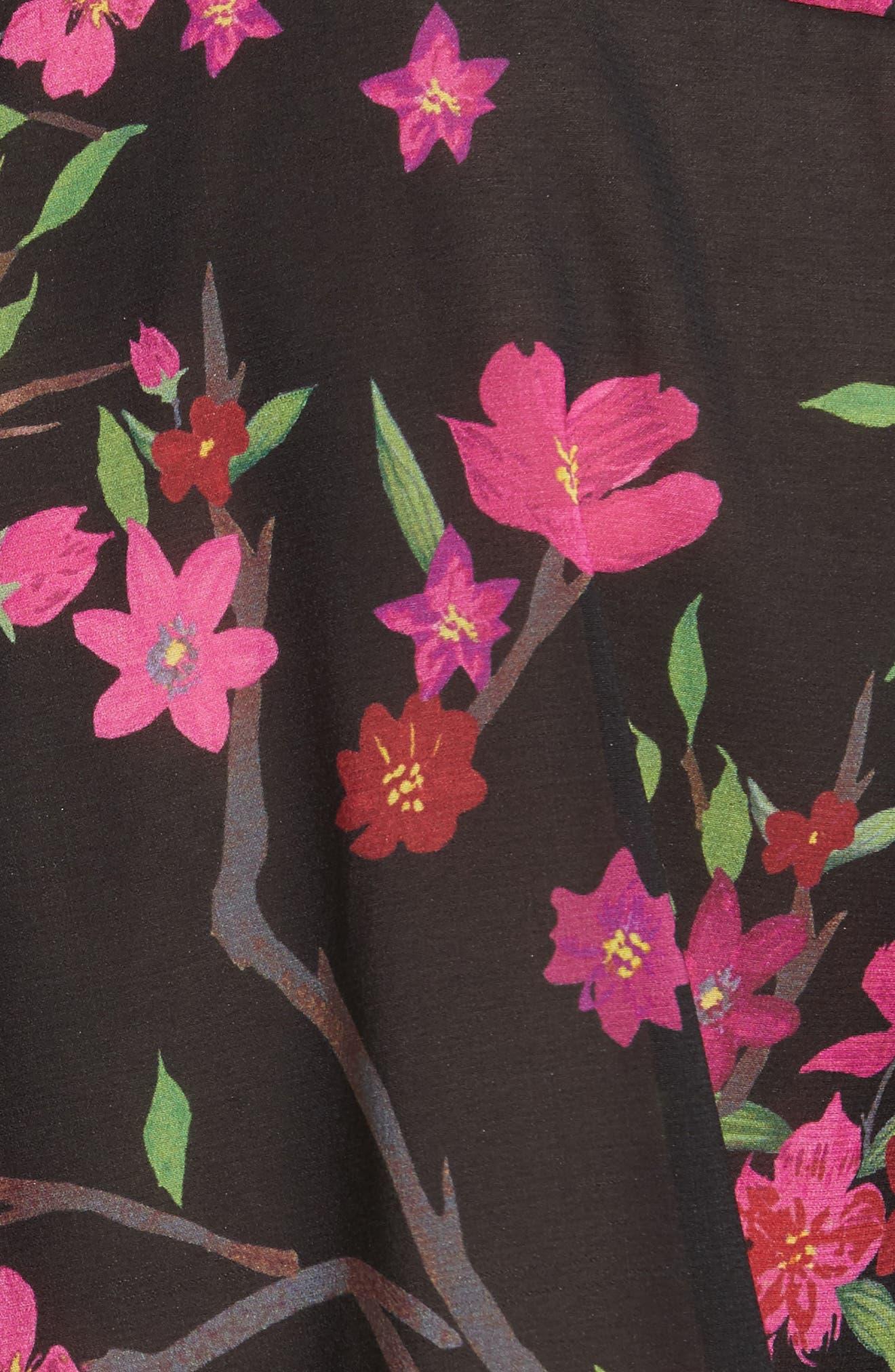 Eloise Mandarin Collar Blouse,                             Alternate thumbnail 5, color,
