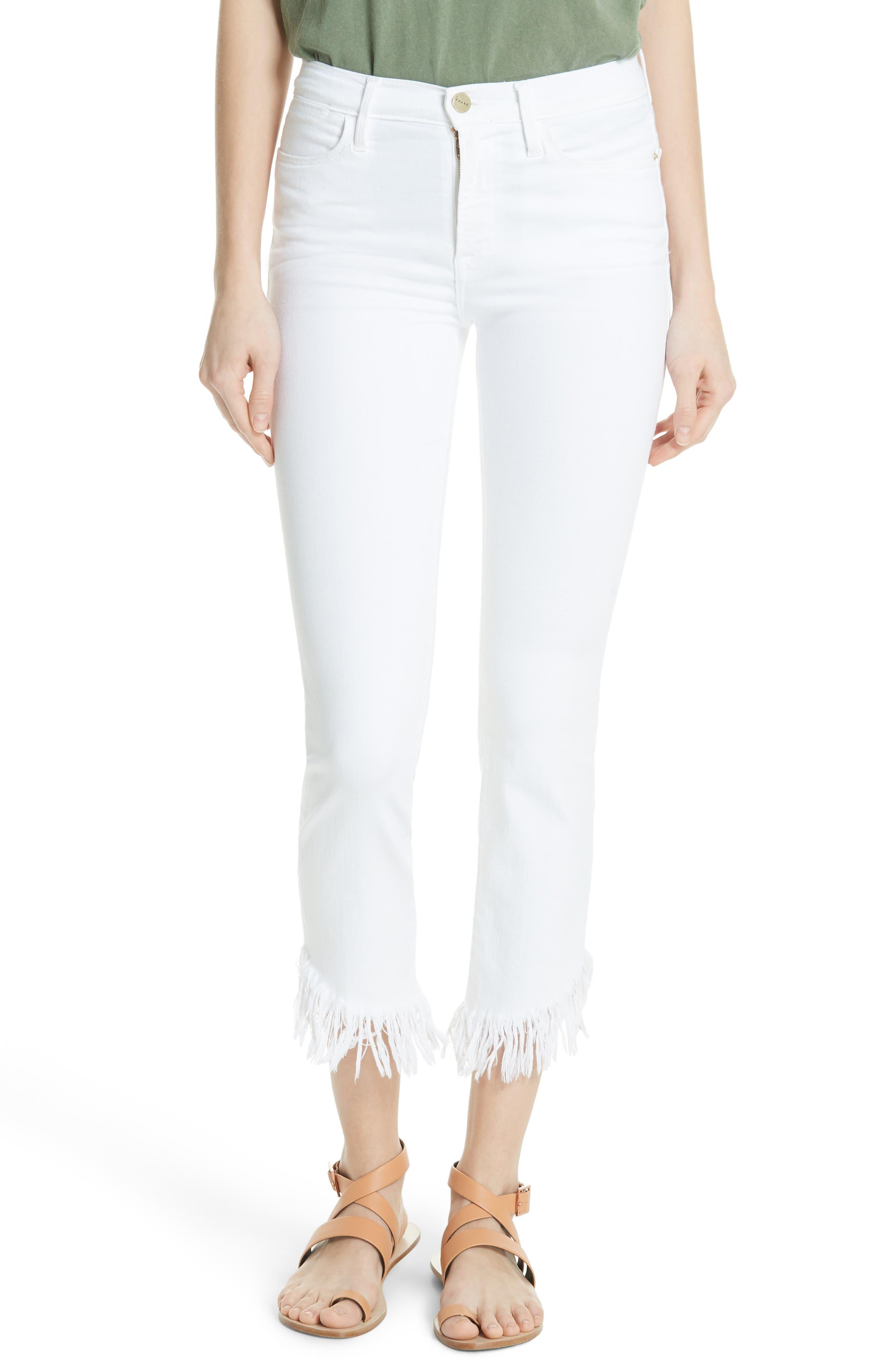 Le High Shredded Straight Leg Jeans,                         Main,                         color, 199