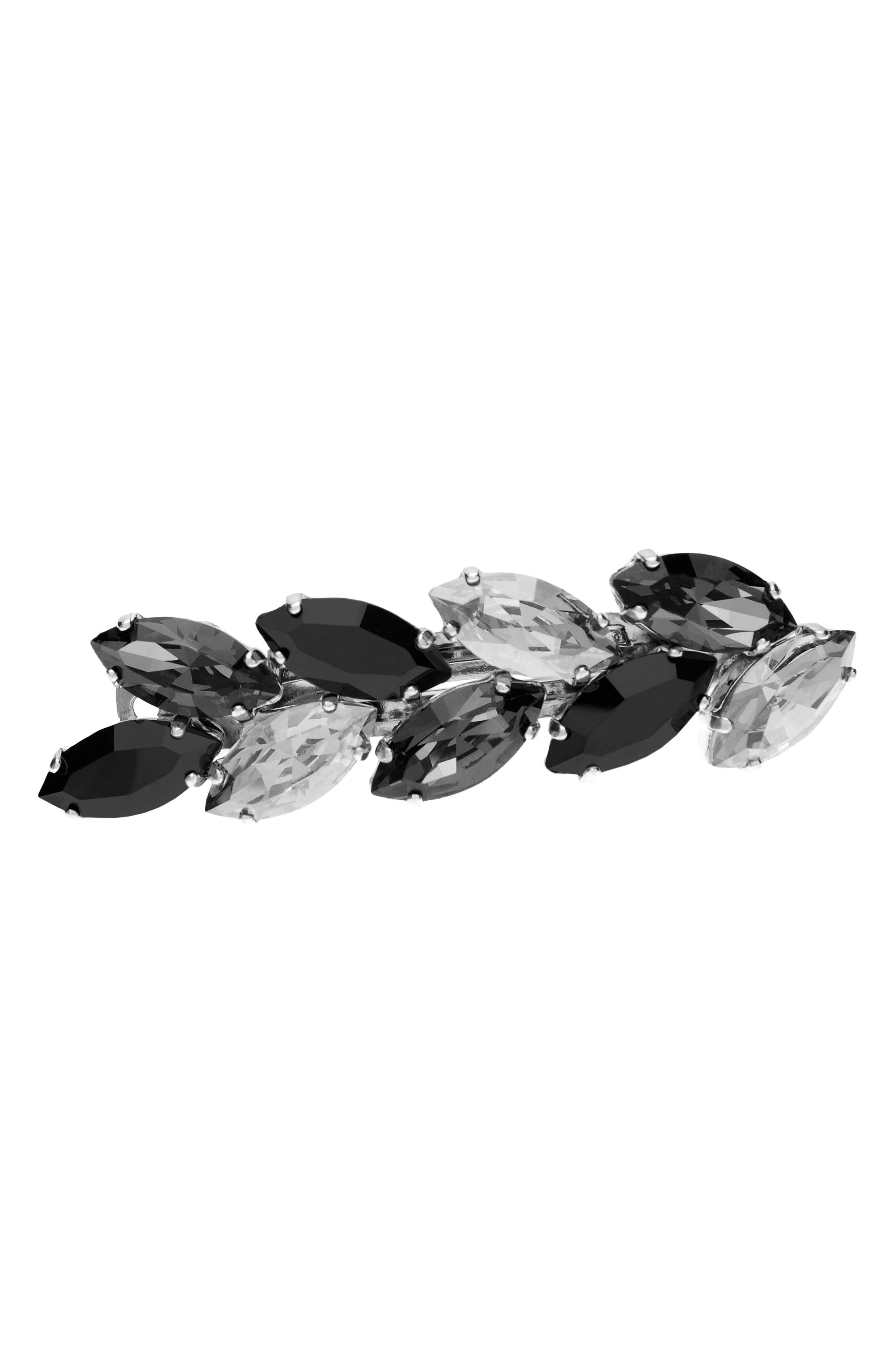 Small Ivy Swarovski Crystal Barrette,                         Main,                         color, 020