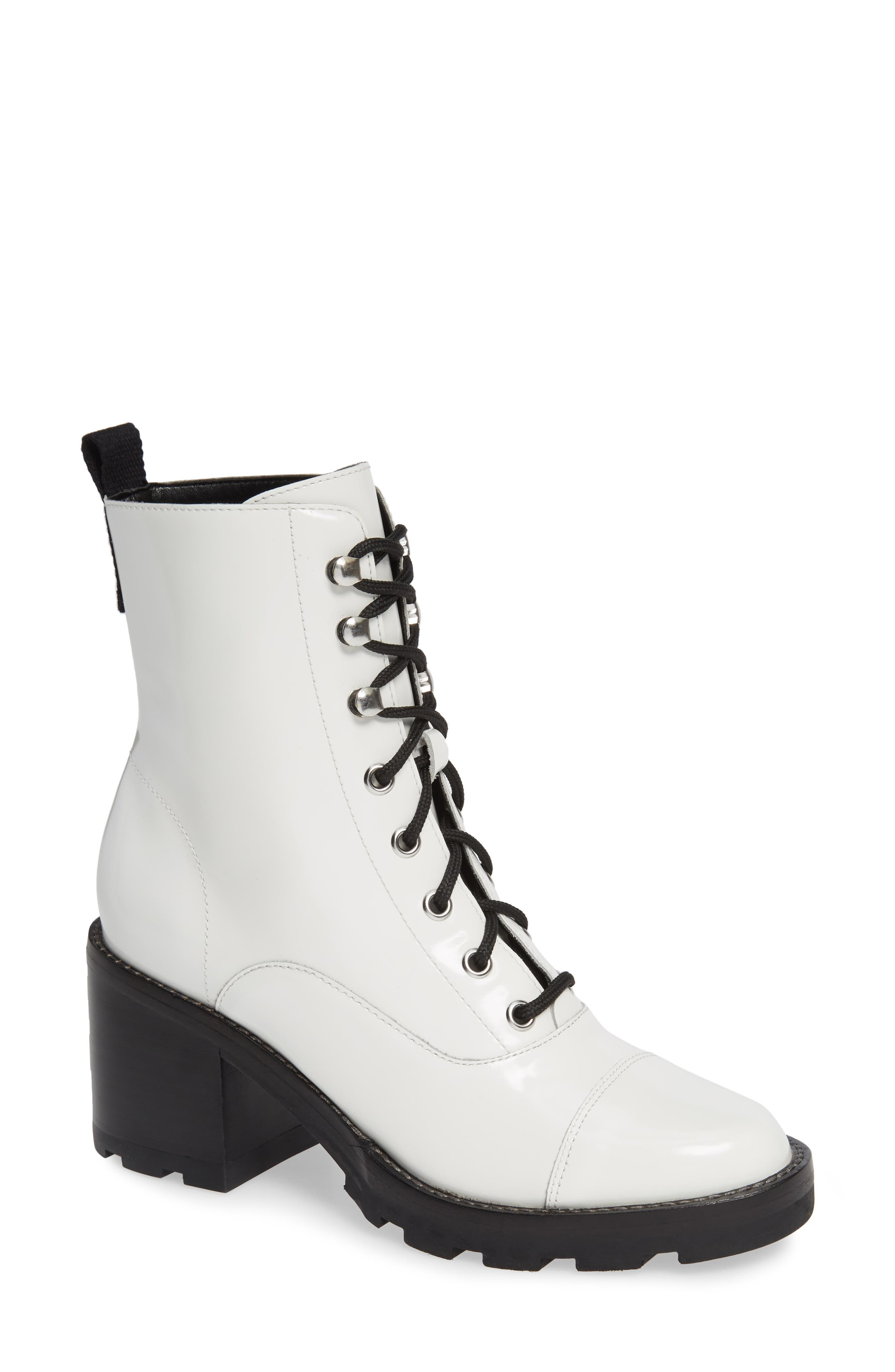 Wanya Boot,                         Main,                         color, WHITE LEATHER