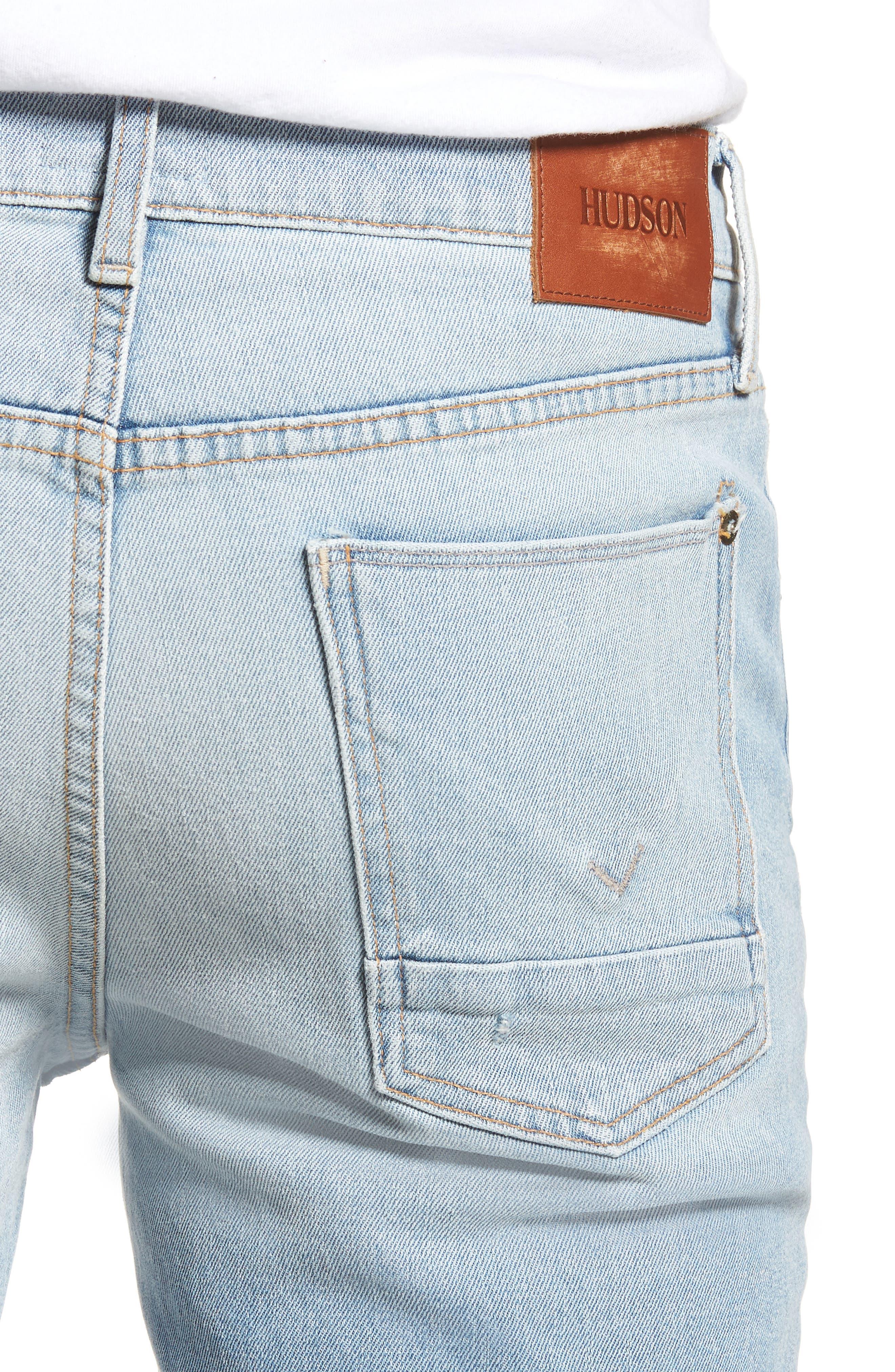 Axl Skinny Fit Jeans,                             Alternate thumbnail 4, color,                             BLAZE