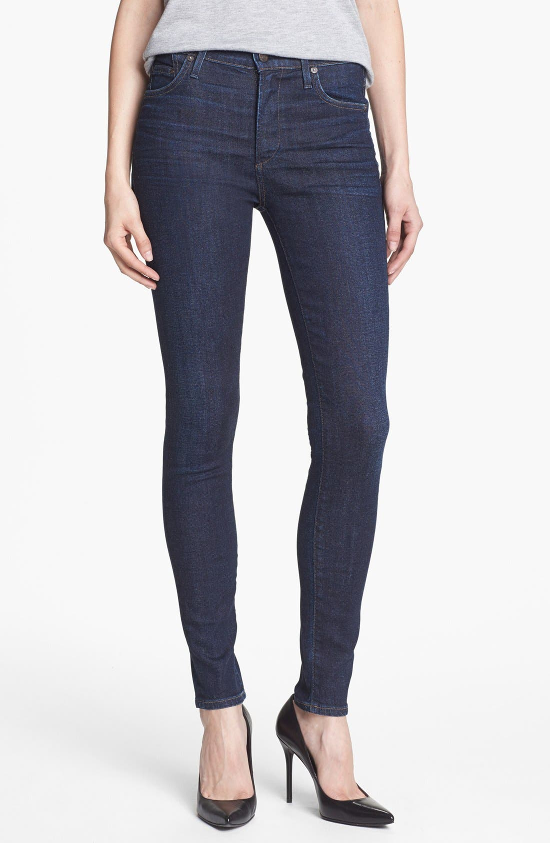 'Rocket' High Rise Skinny Jeans, Main, color, 420