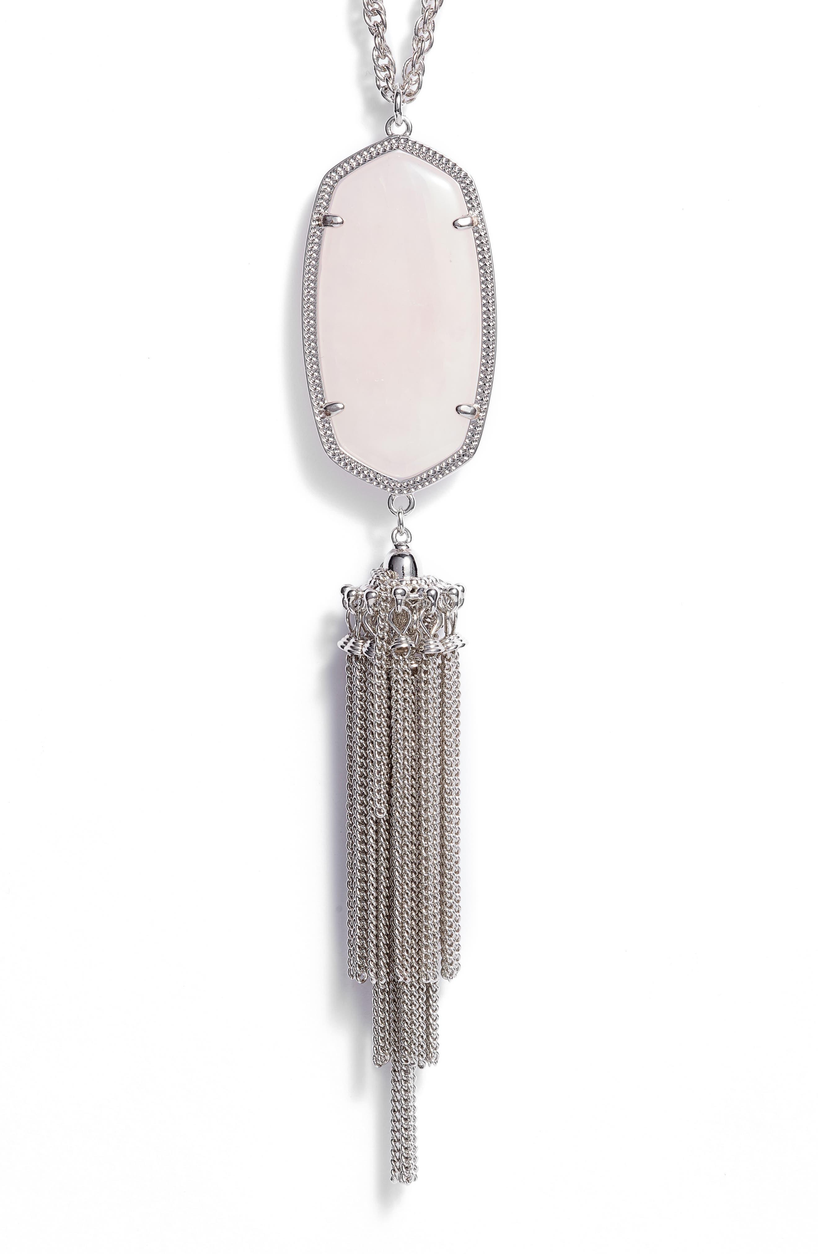 Rayne Stone Tassel Pendant Necklace,                             Alternate thumbnail 95, color,