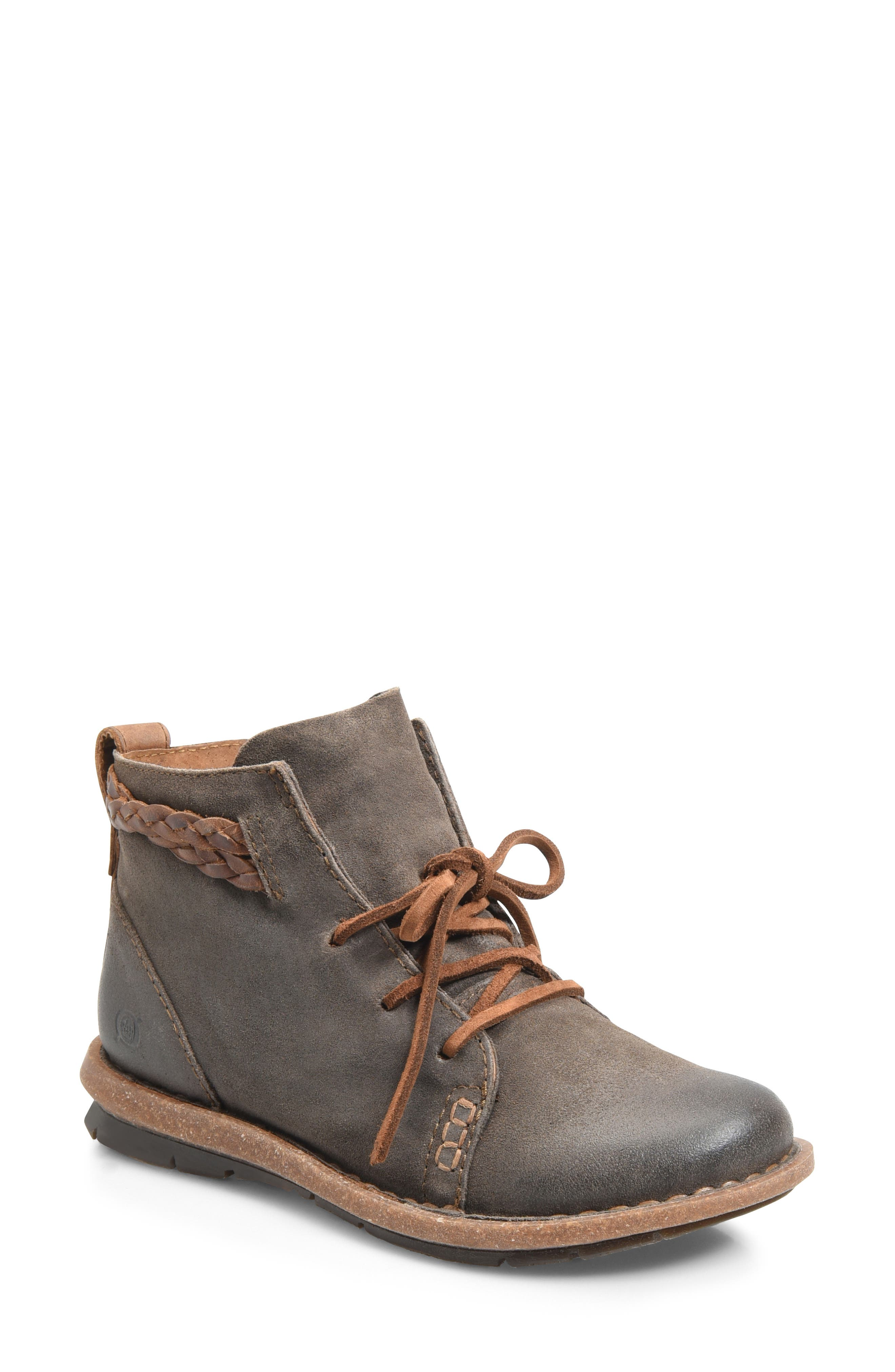 Temple Bootie,                         Main,                         color, TAUPE DISTRESSED LEATHER