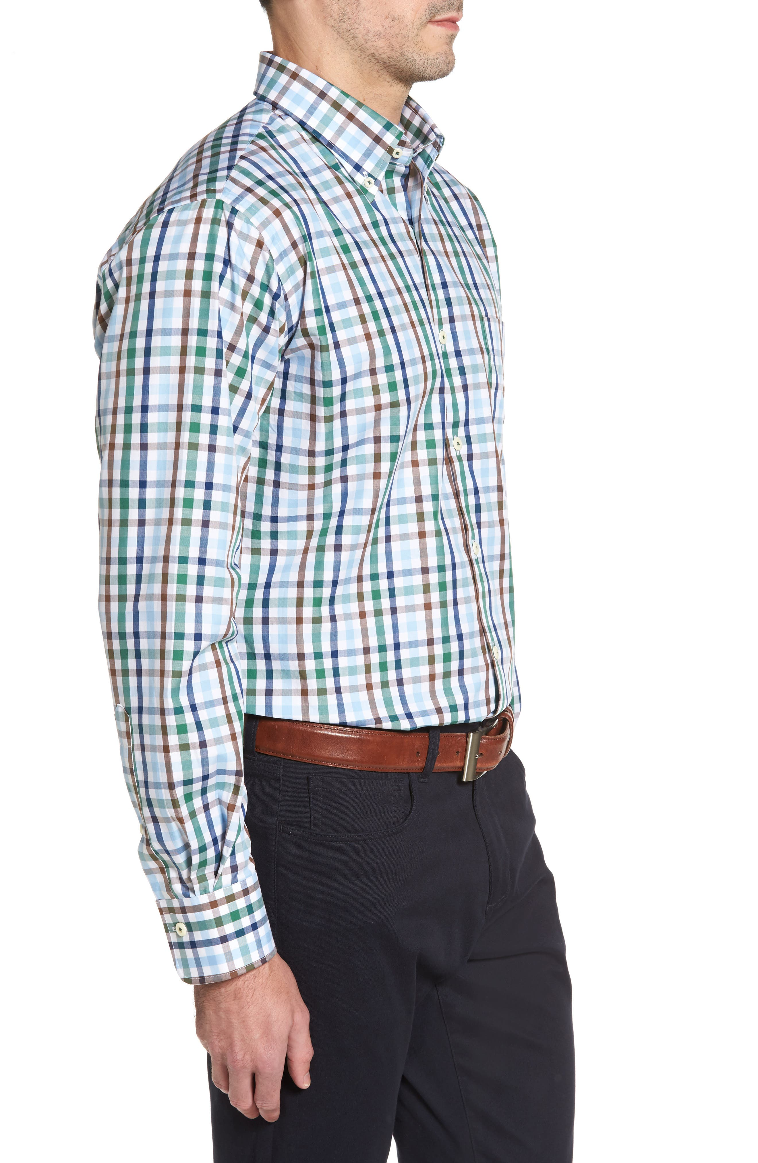 Trail Check Sport Shirt,                             Alternate thumbnail 3, color,                             314