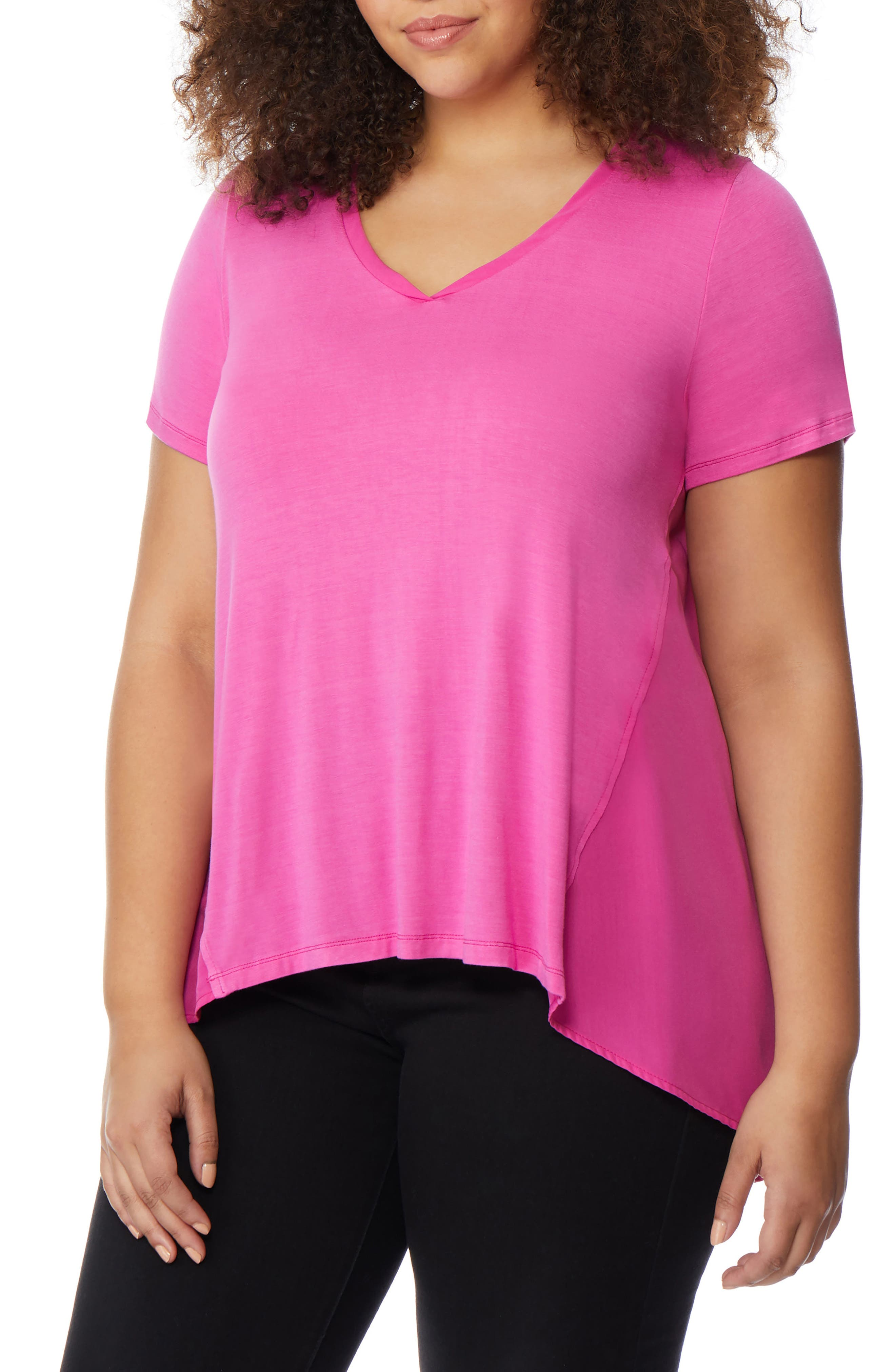 Knit to Woven Tee,                         Main,                         color, 651