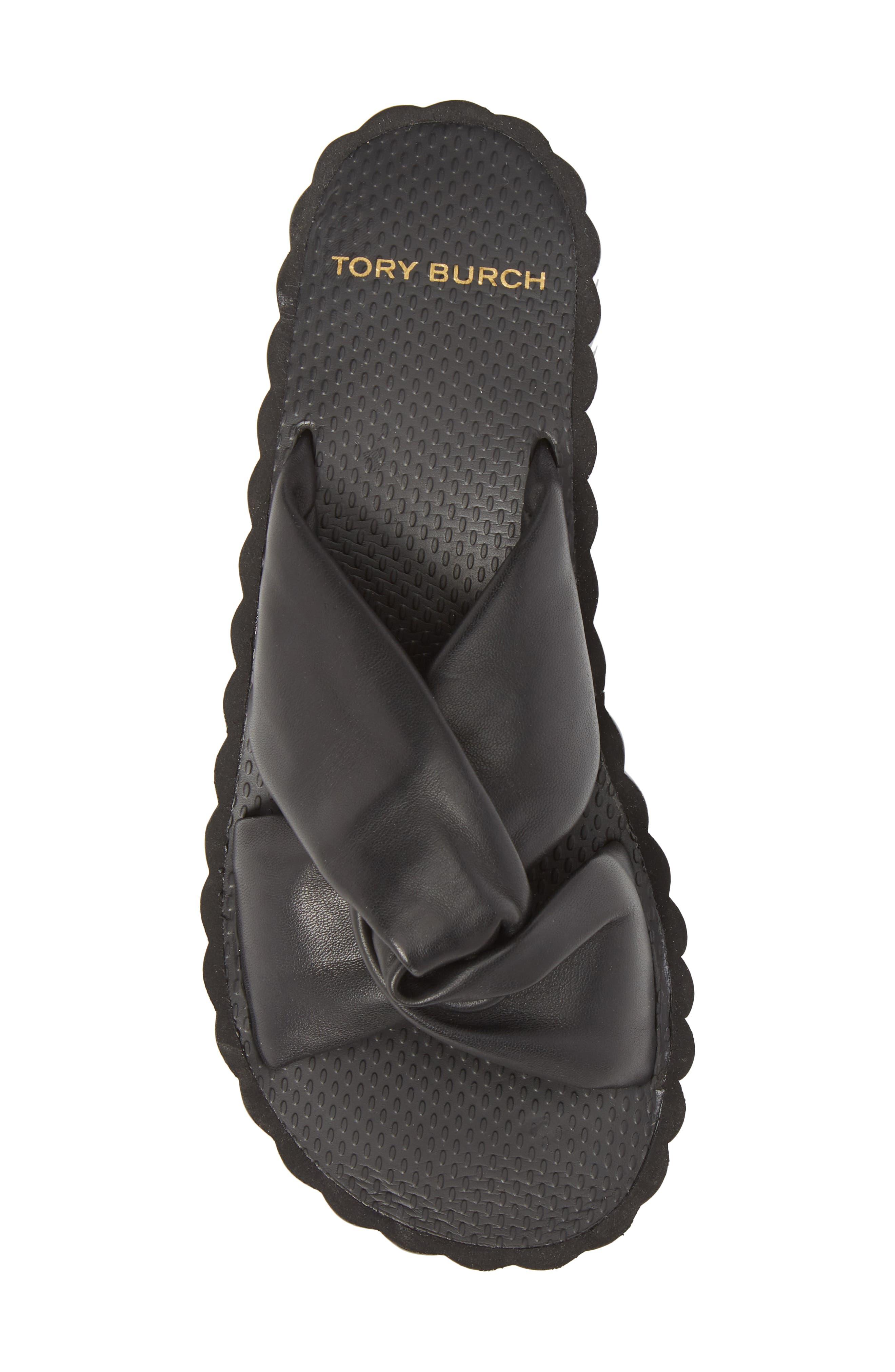 TORY BURCH,                             Scallop Platform Slide Sandal,                             Alternate thumbnail 5, color,                             006