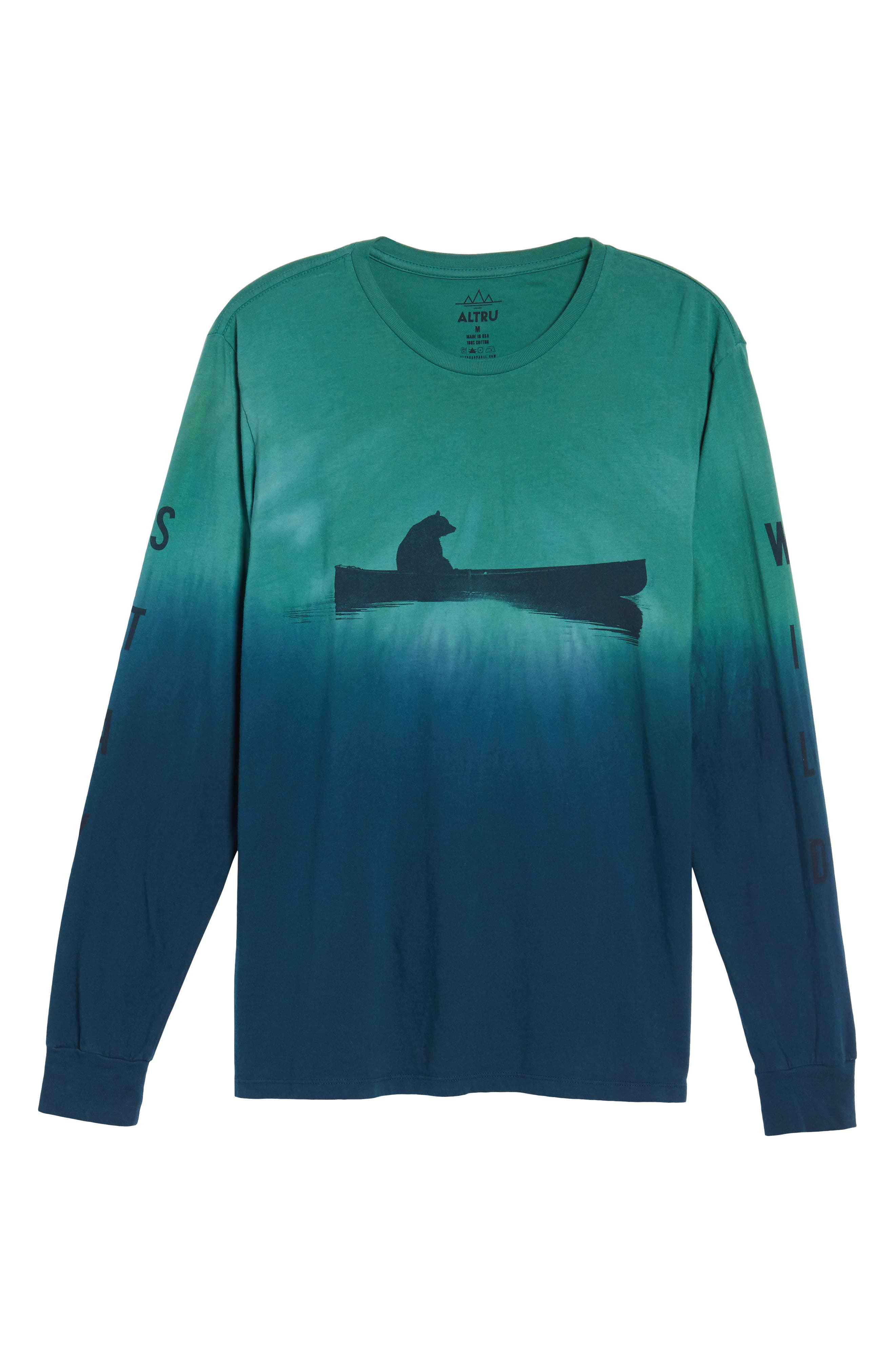 Up a Creek T-Shirt,                             Alternate thumbnail 6, color,                             ALGAE/ NAVY