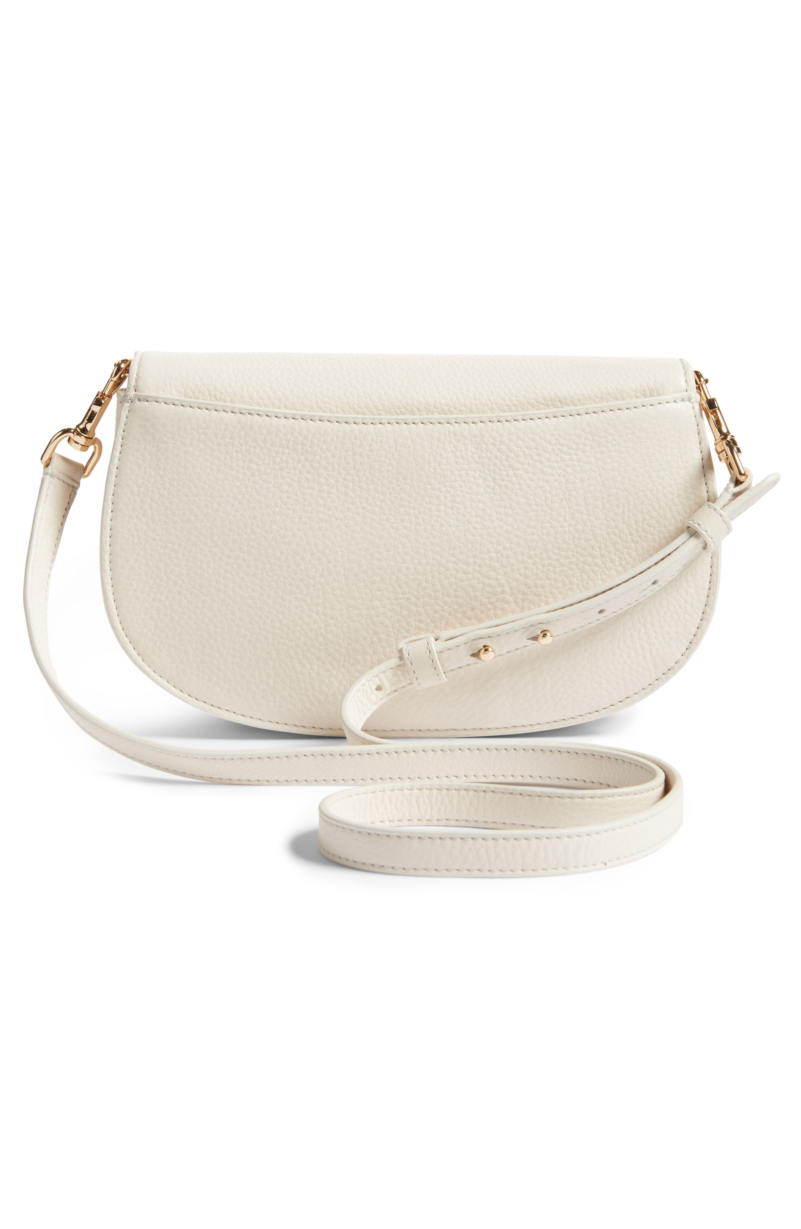 Jamie Convertible Leather Clutch,                             Alternate thumbnail 3, color,                             104