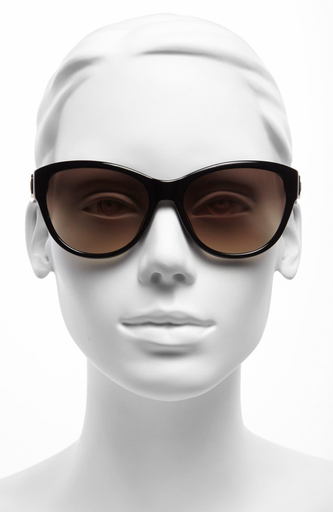 MICHAEL MICHAEL KORS,                             'Vivian' 57mm Sunglasses,                             Alternate thumbnail 2, color,                             001
