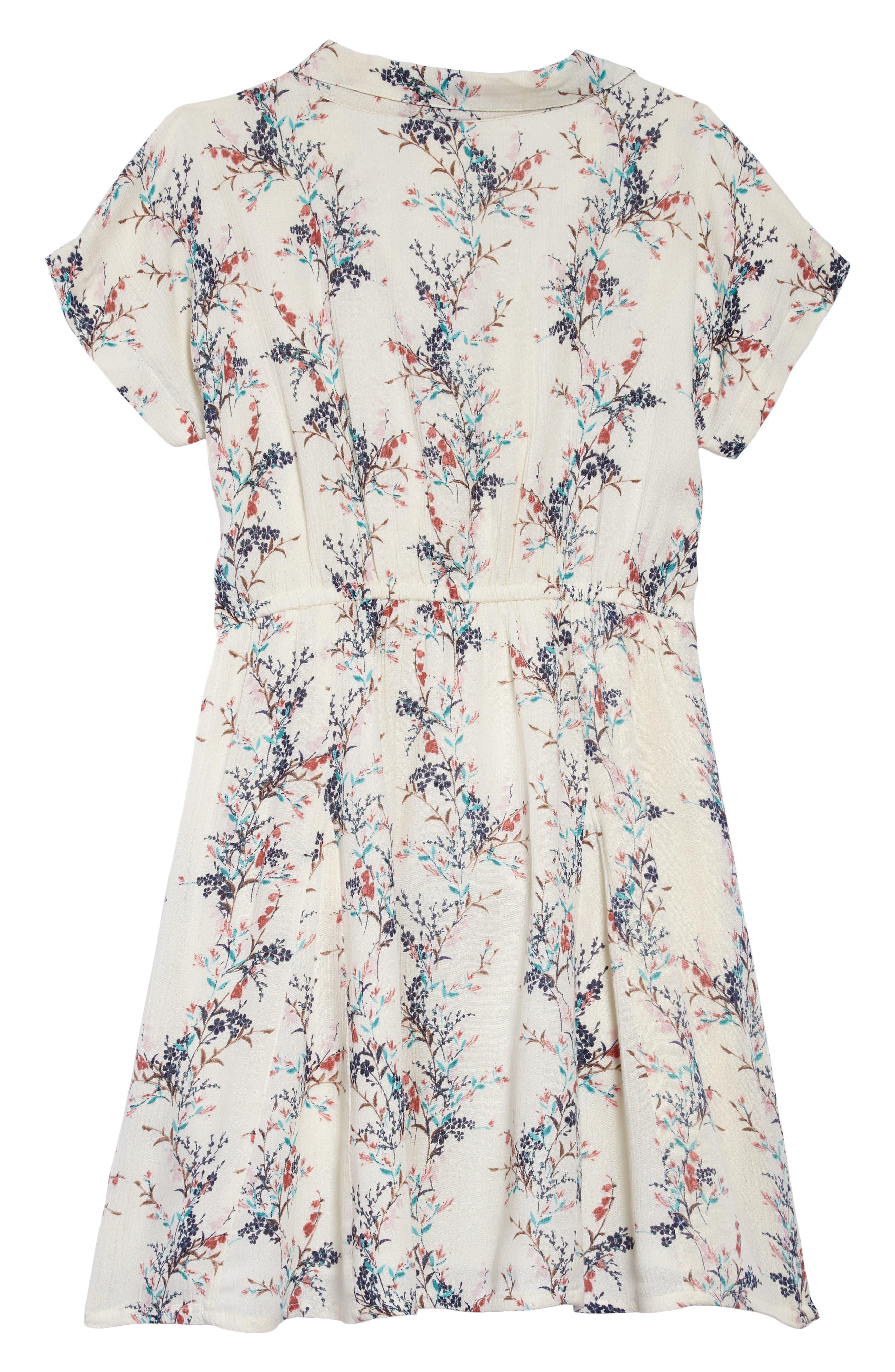 Annalyn Floral Dress,                             Alternate thumbnail 2, color,                             NAKED