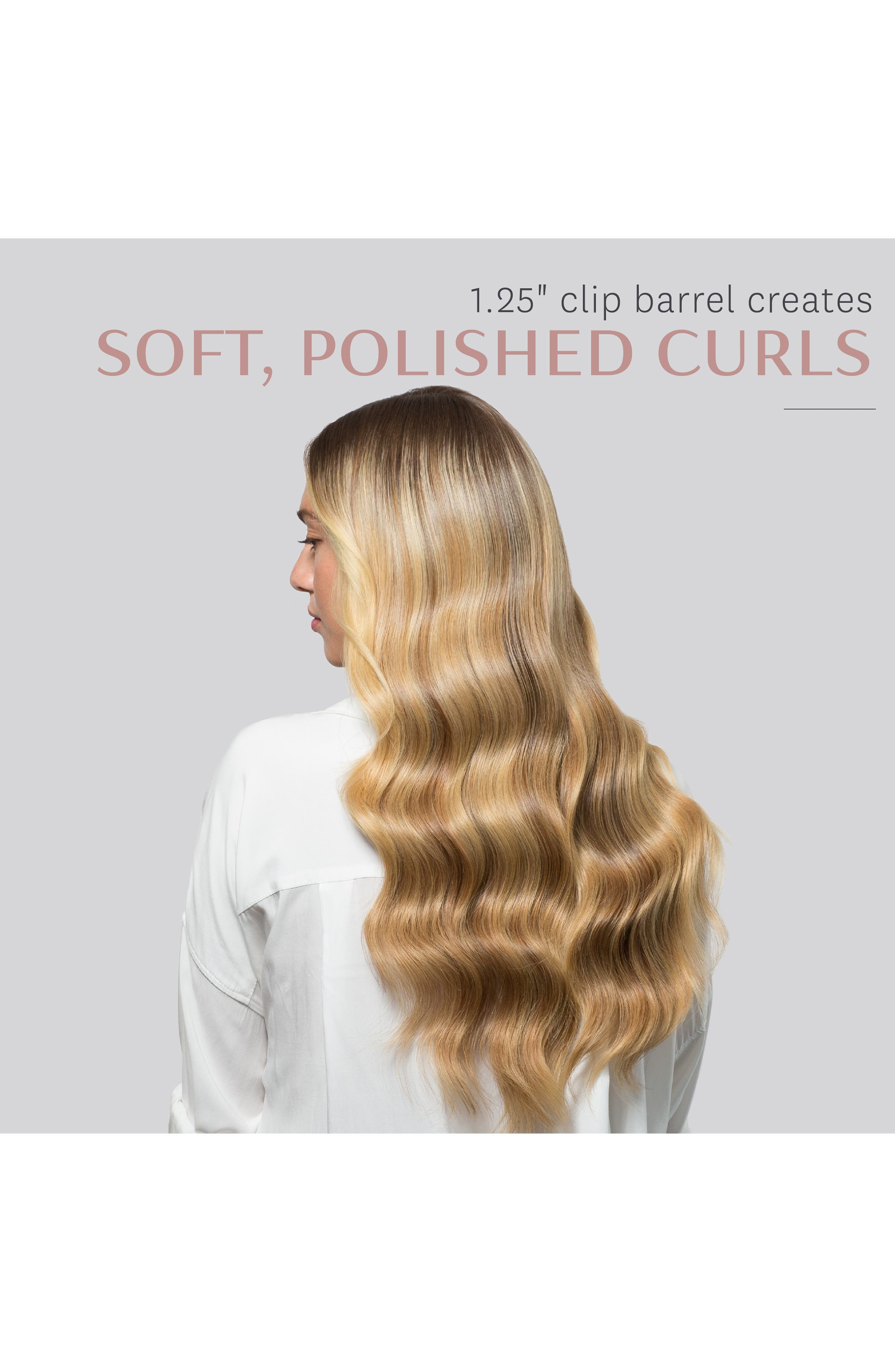 Polished Curls 1.25-Inch Interchangeable Clip Curling Iron Barrel,                             Alternate thumbnail 6, color,                             NO COLOR