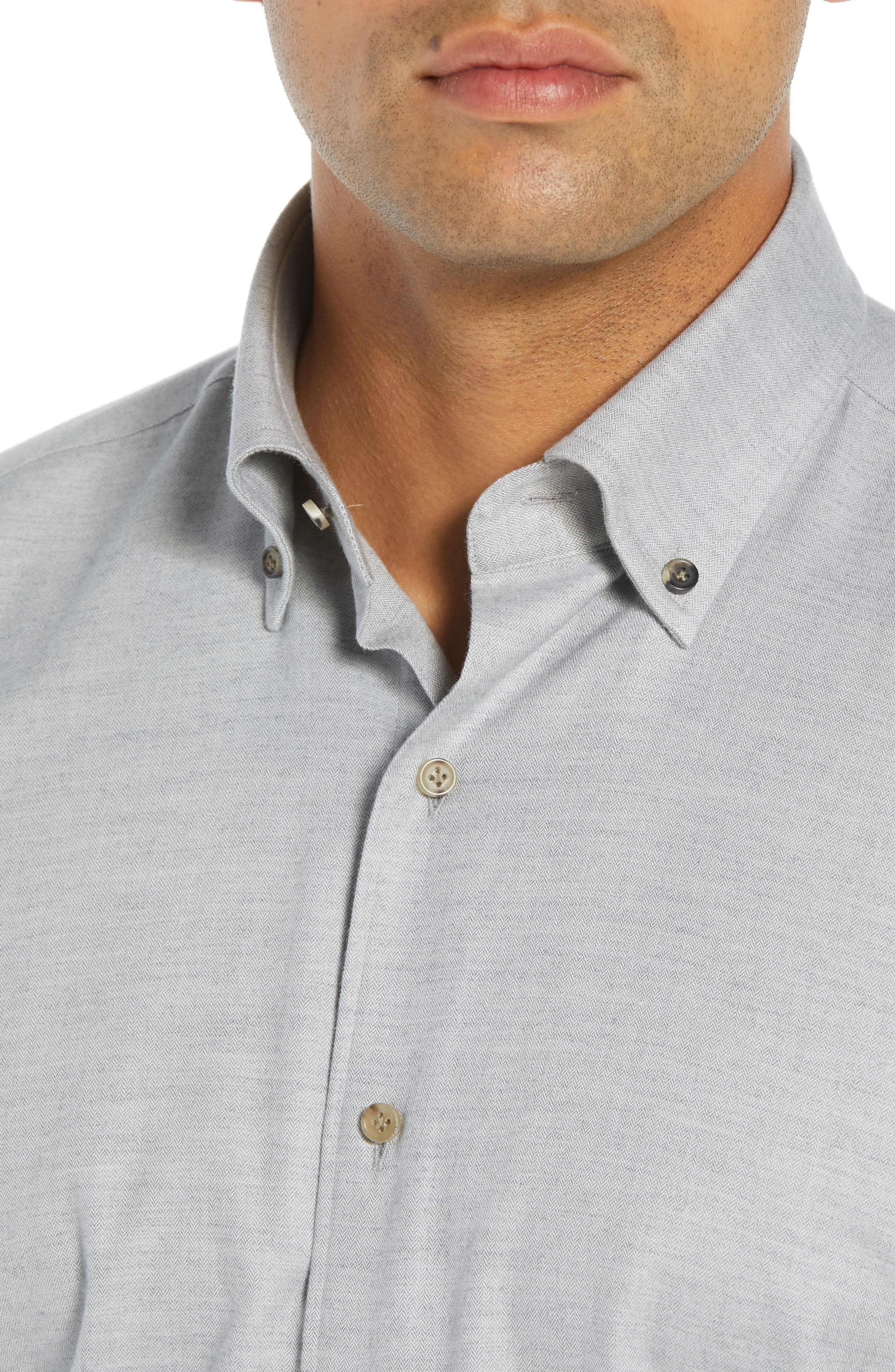 Hamra Regular Fit Sport Shirt,                             Alternate thumbnail 2, color,                             PLATINUM