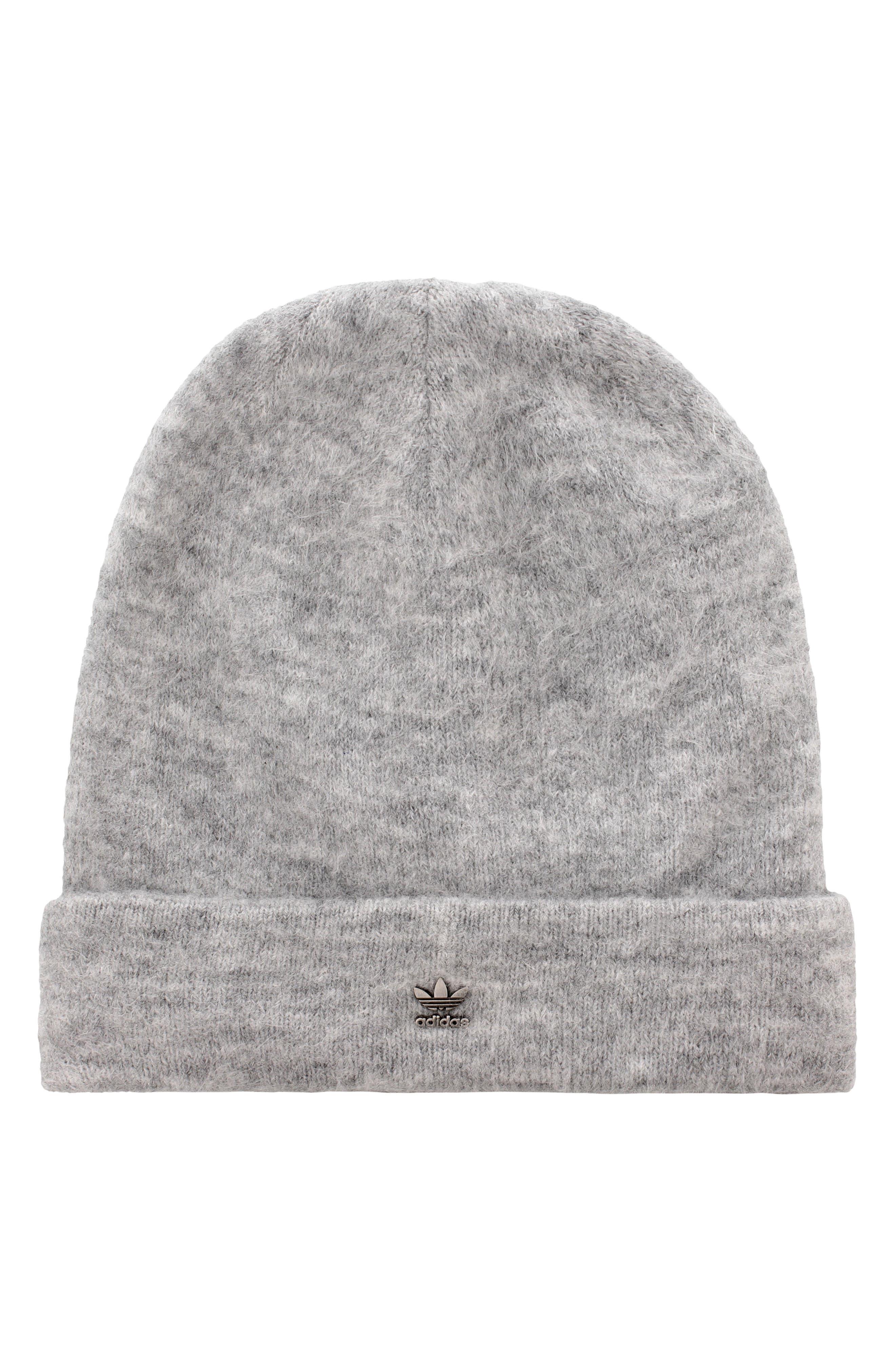 Adidas Originals Fuzzy Beanie Hat - Grey