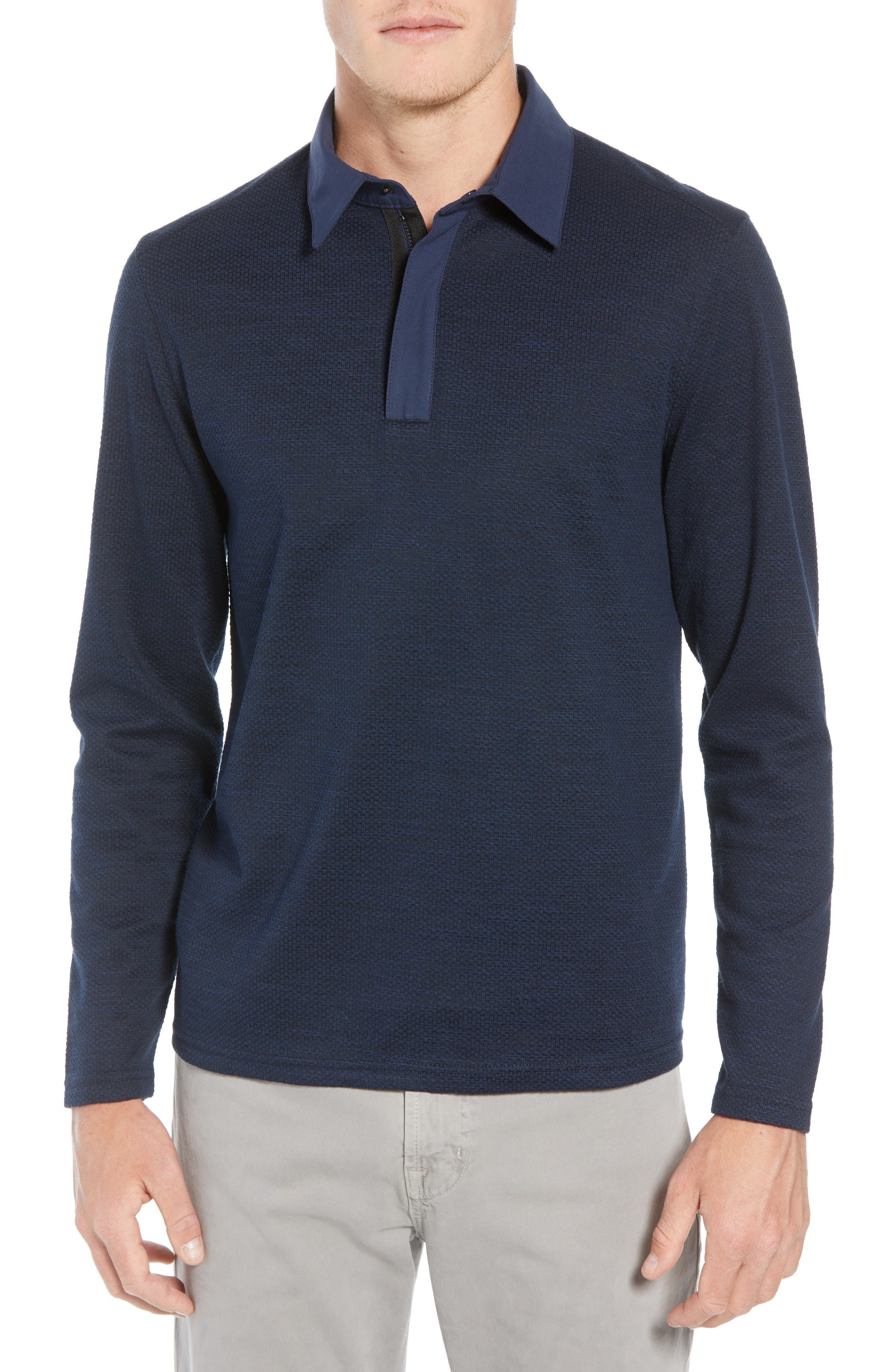 Echo Slim Fit Polo,                             Main thumbnail 1, color,                             NAVY