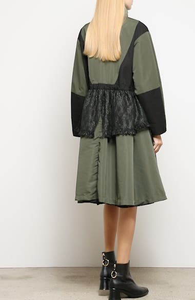 Lace Overlay Hooded Coat, video thumbnail