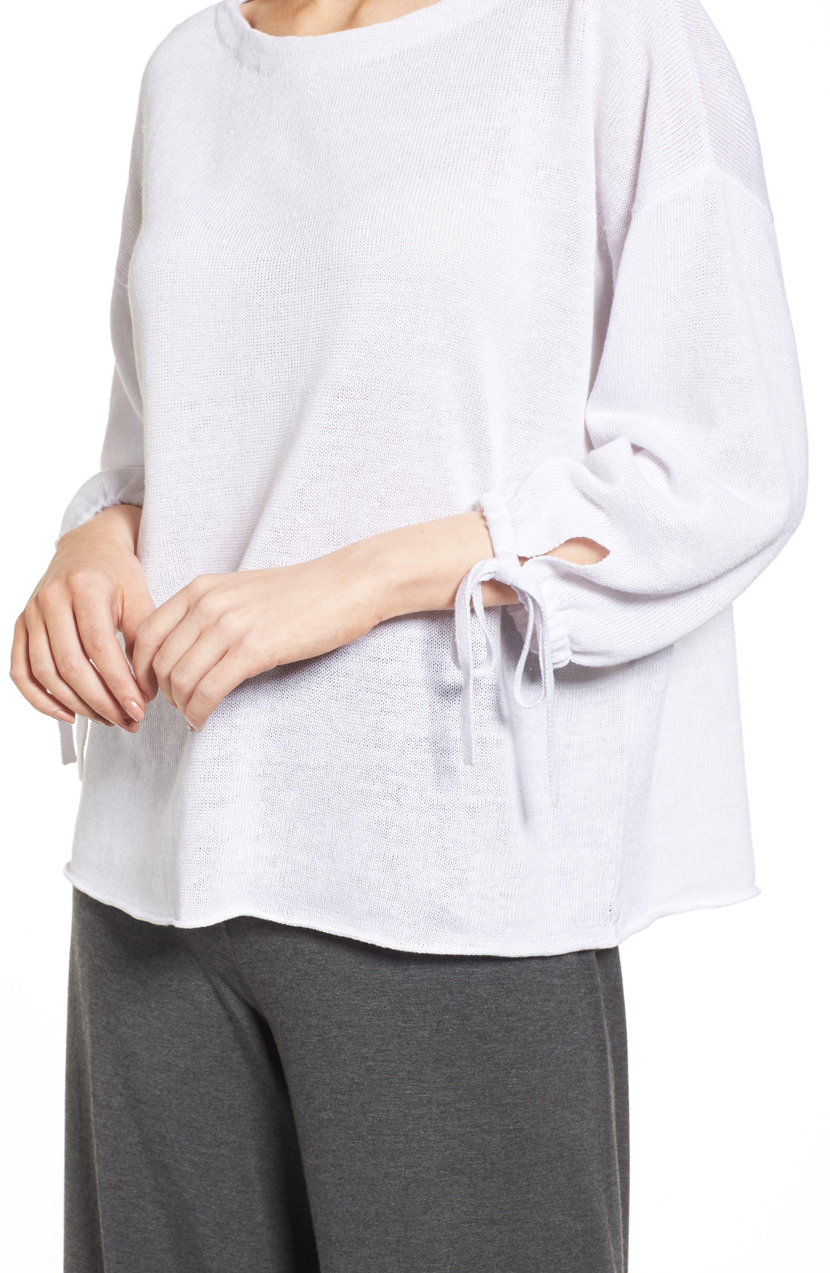 Organic Linen Sweater,                             Alternate thumbnail 14, color,
