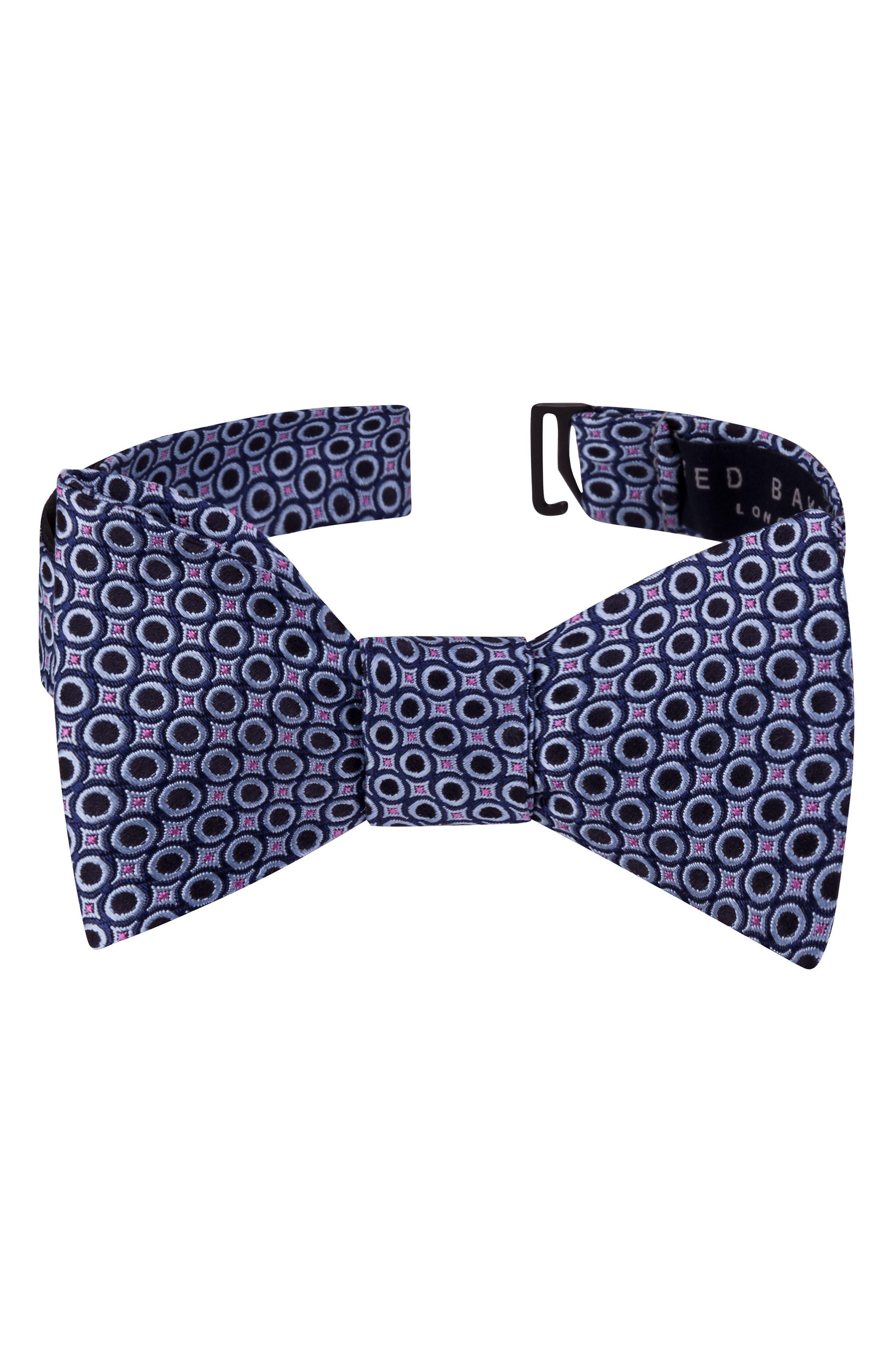 Connected Circles Silk Bow Tie,                             Main thumbnail 1, color,                             400