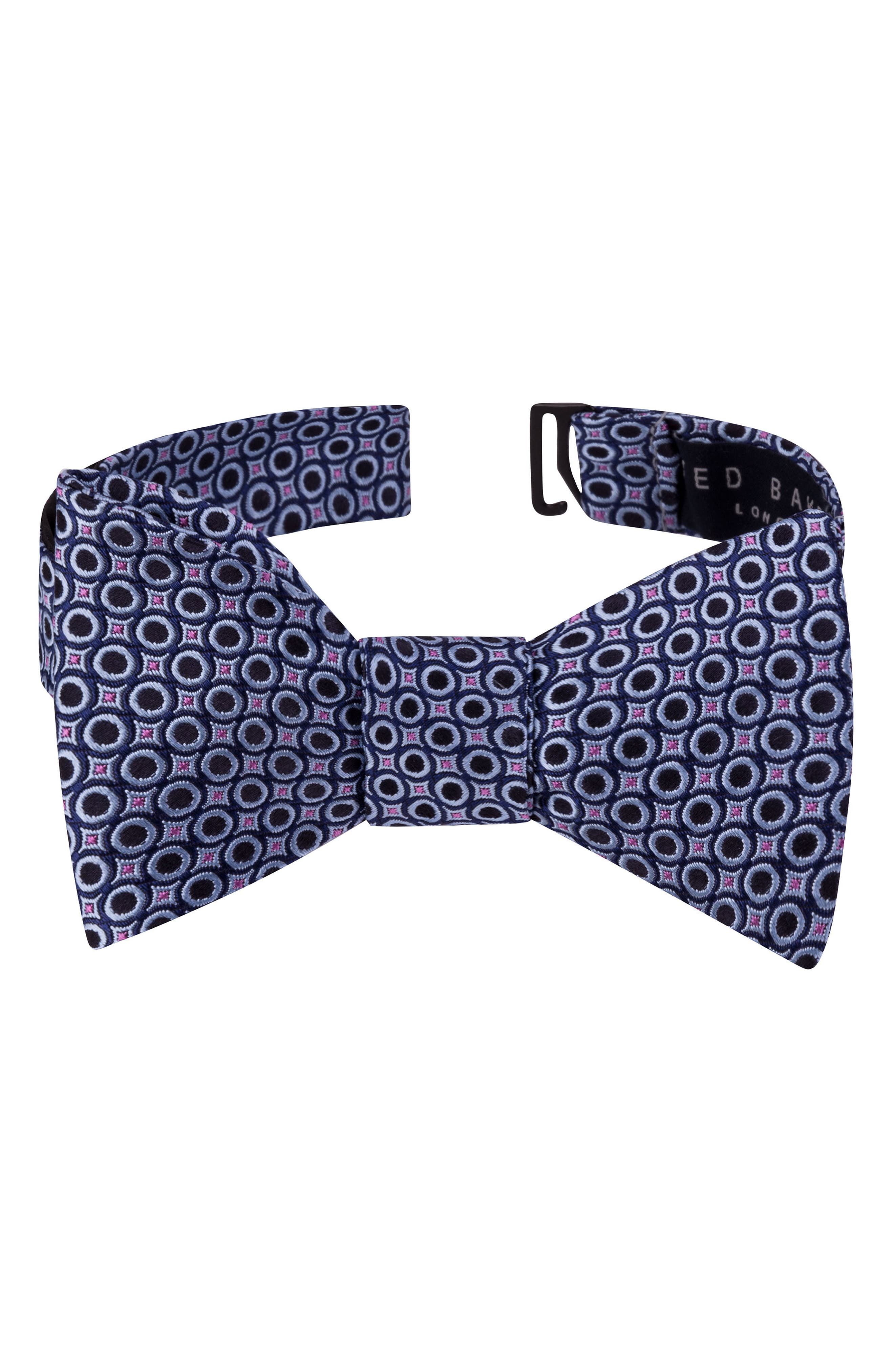 Connected Circles Silk Bow Tie,                         Main,                         color, 400