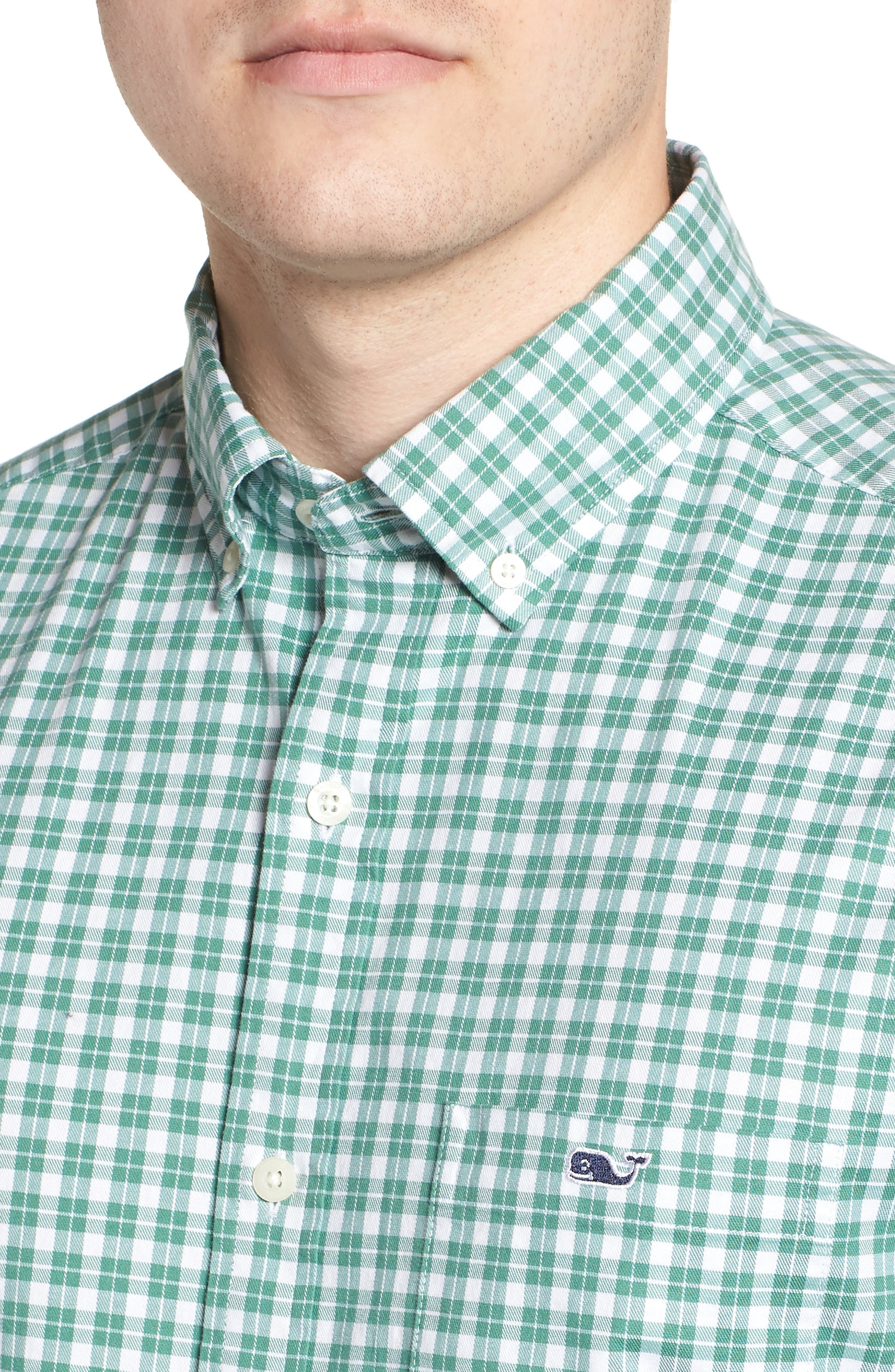 Eagle Hill Classic Fit Check Sport Shirt,                             Alternate thumbnail 2, color,                             STARBOARD GREEN