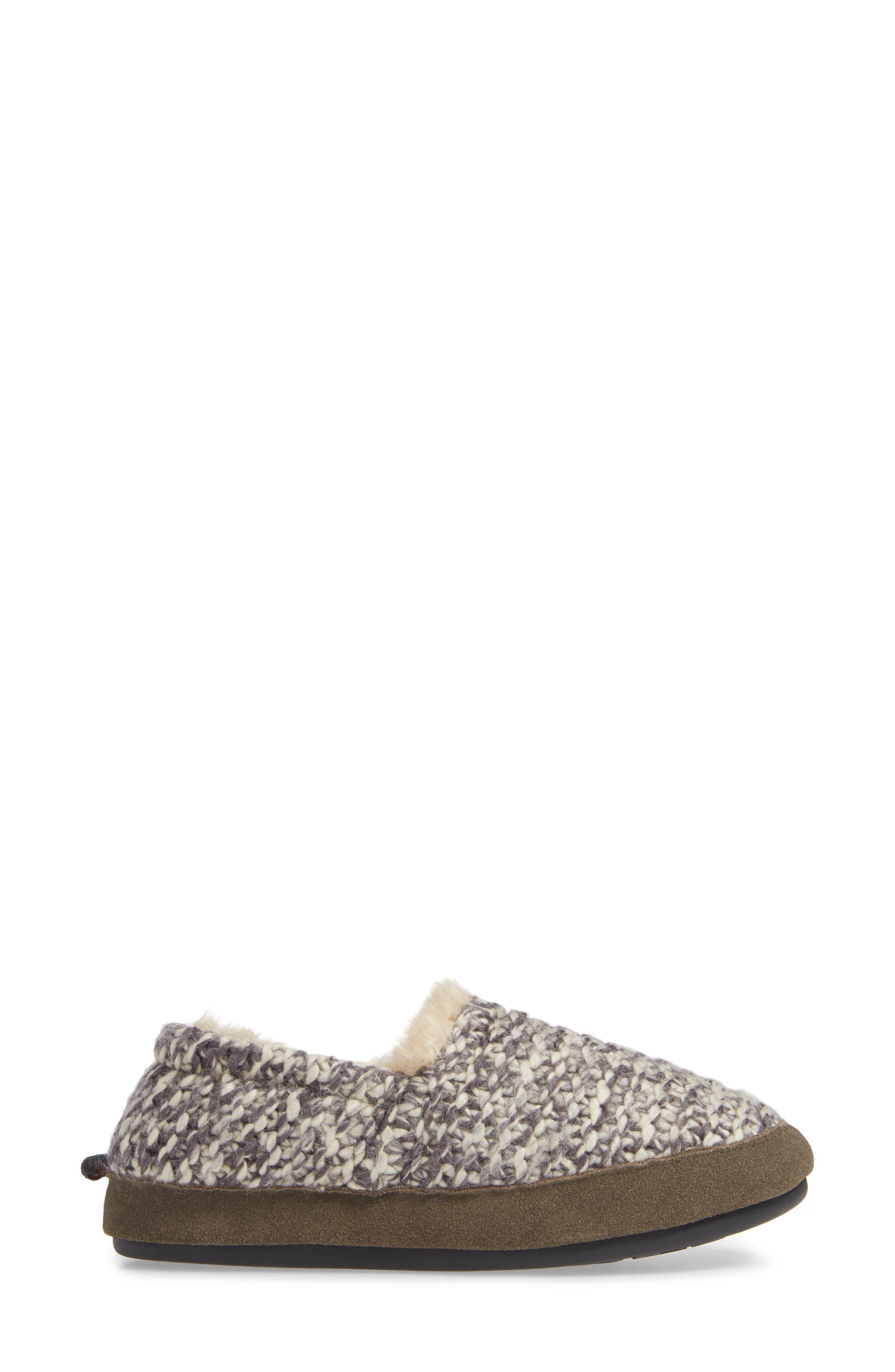 Whitecap Knit Slipper,                             Alternate thumbnail 3, color,                             WARM NEUTRAL FABRIC