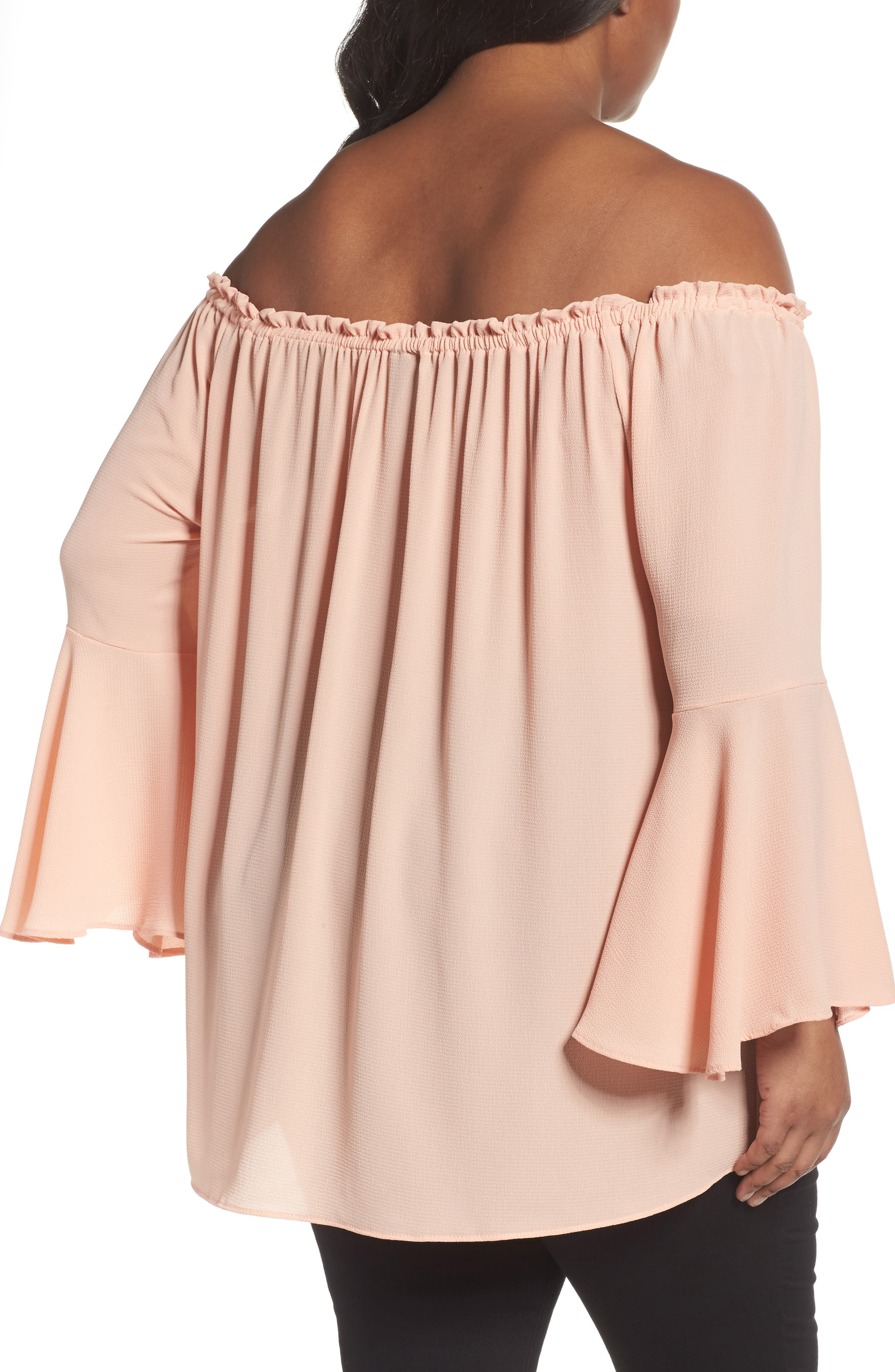 Bell Sleeve Off the Shoulder Top,                             Alternate thumbnail 2, color,