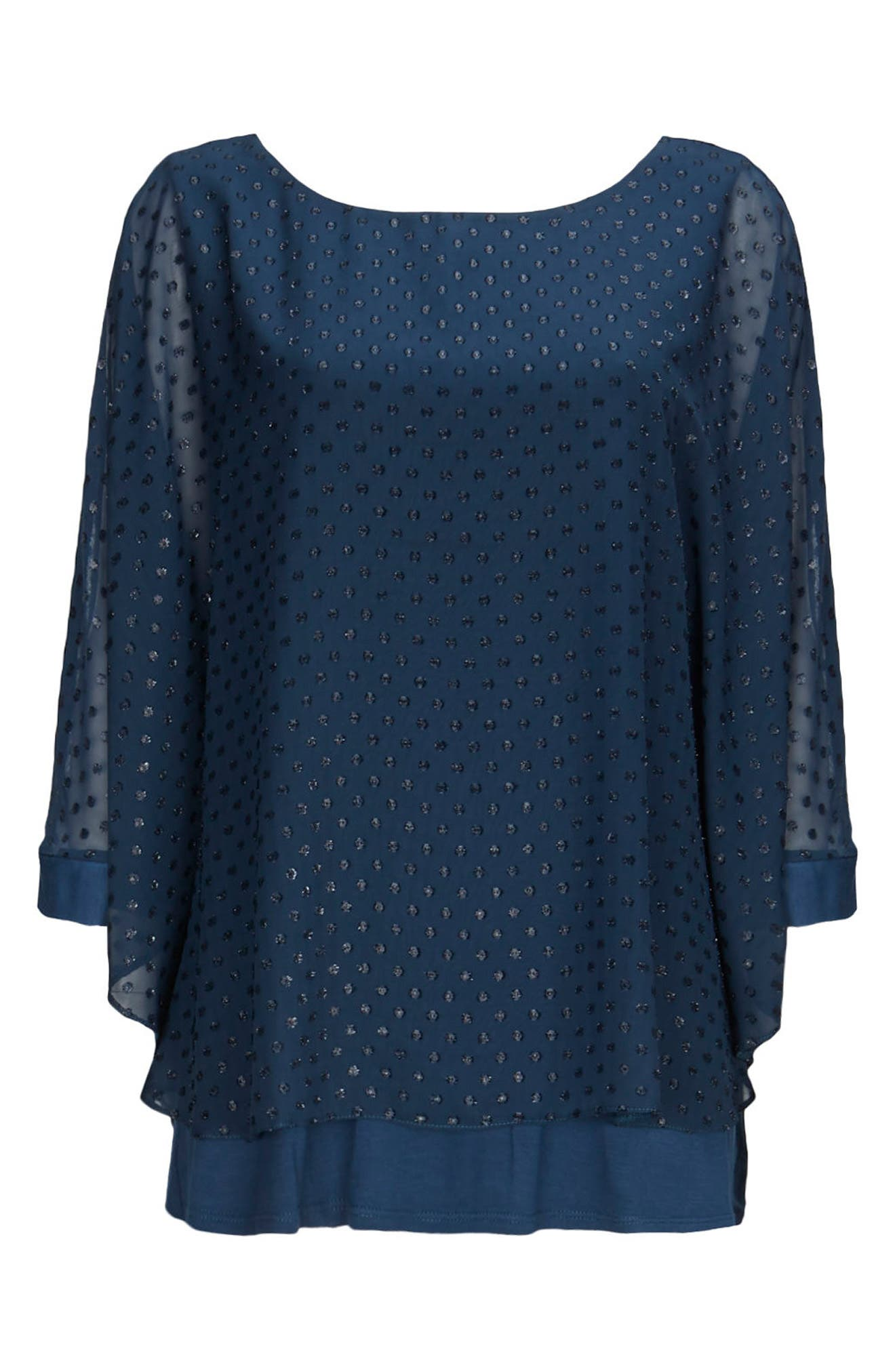 Sparkle Overlay Top,                             Alternate thumbnail 3, color,