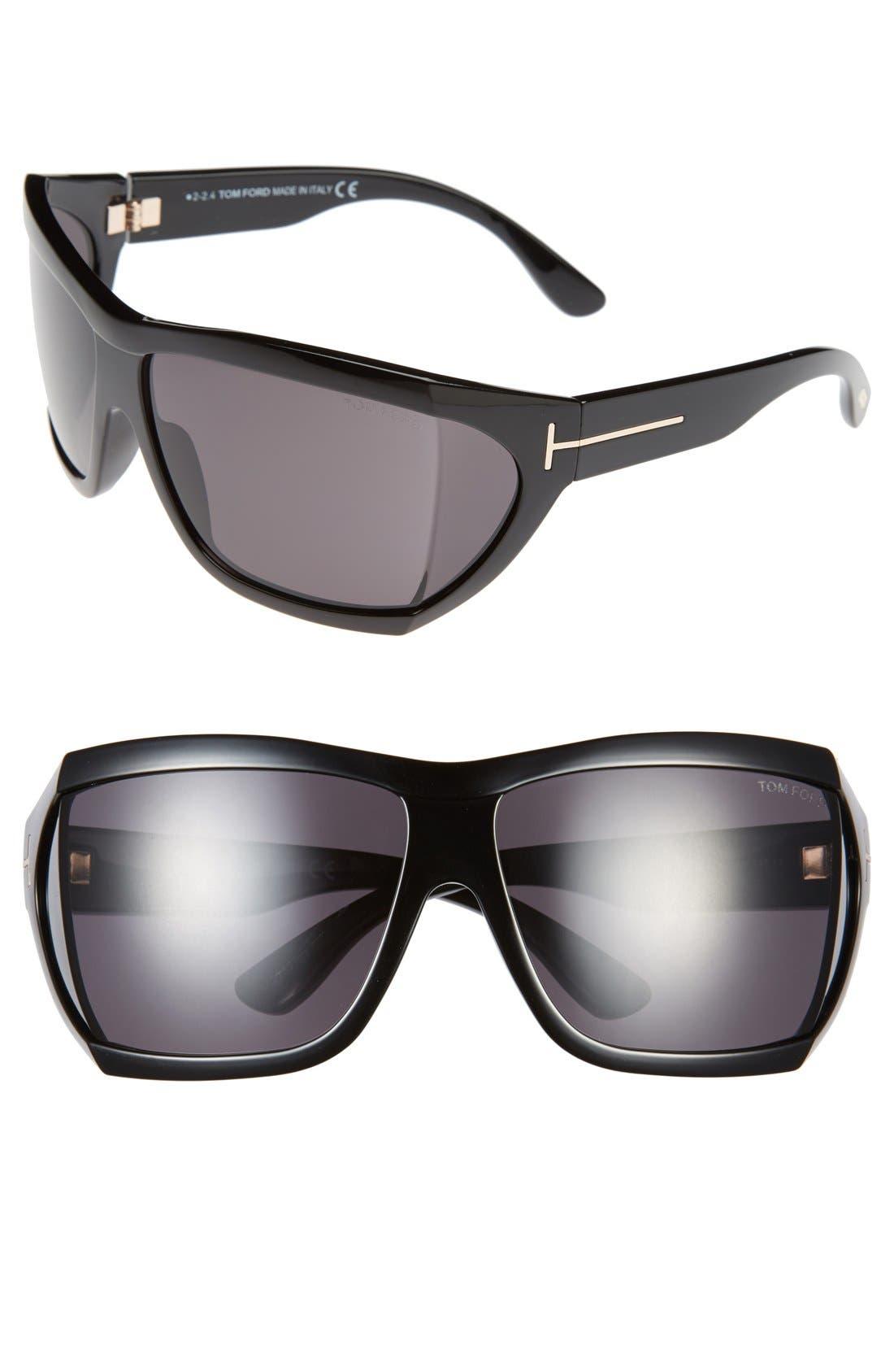 TOM FORD 'Sedgewick' 62mm Sunglasses, Main, color, 001