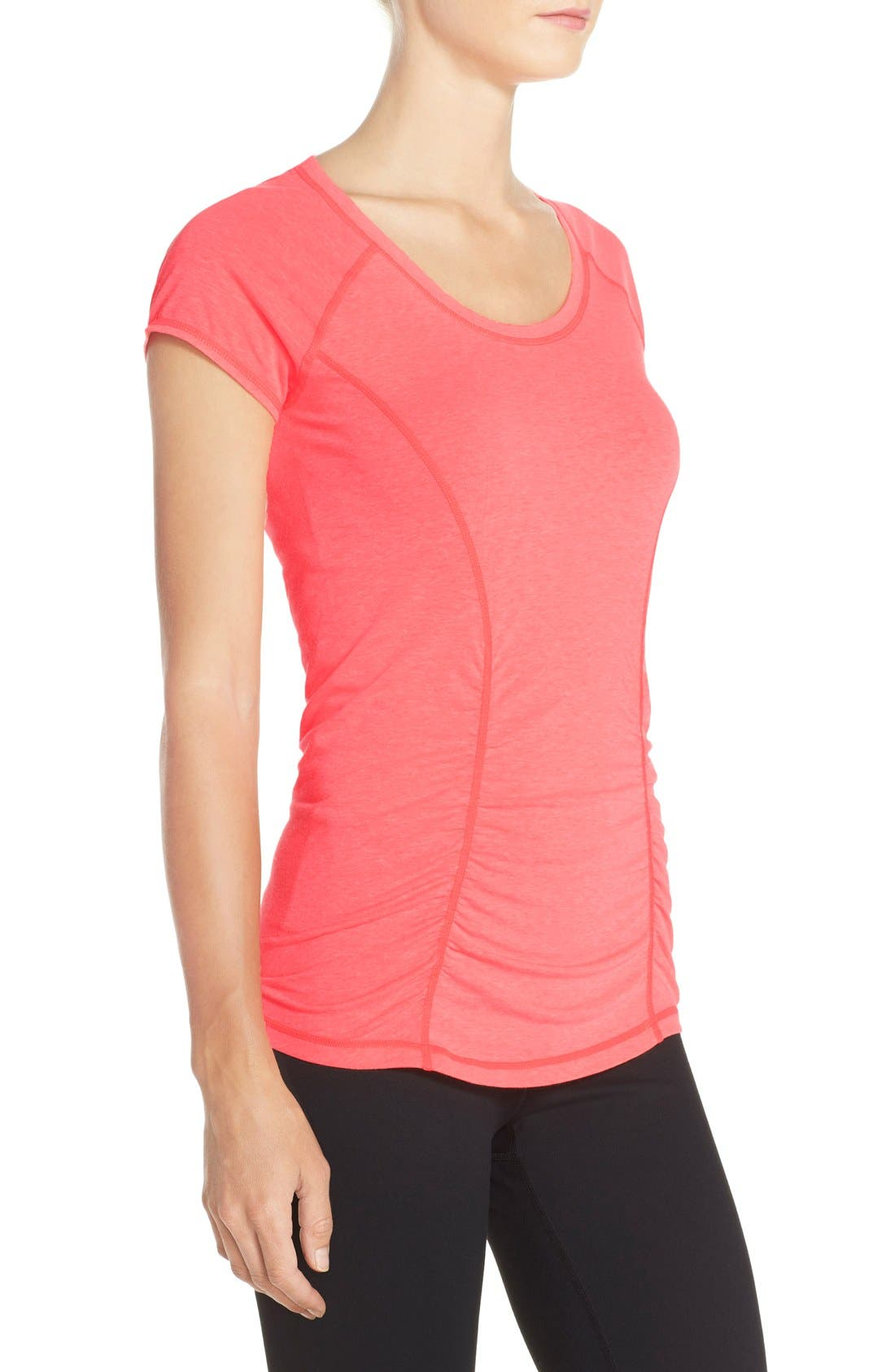 'Z 6' Ruched Tee,                             Alternate thumbnail 49, color,