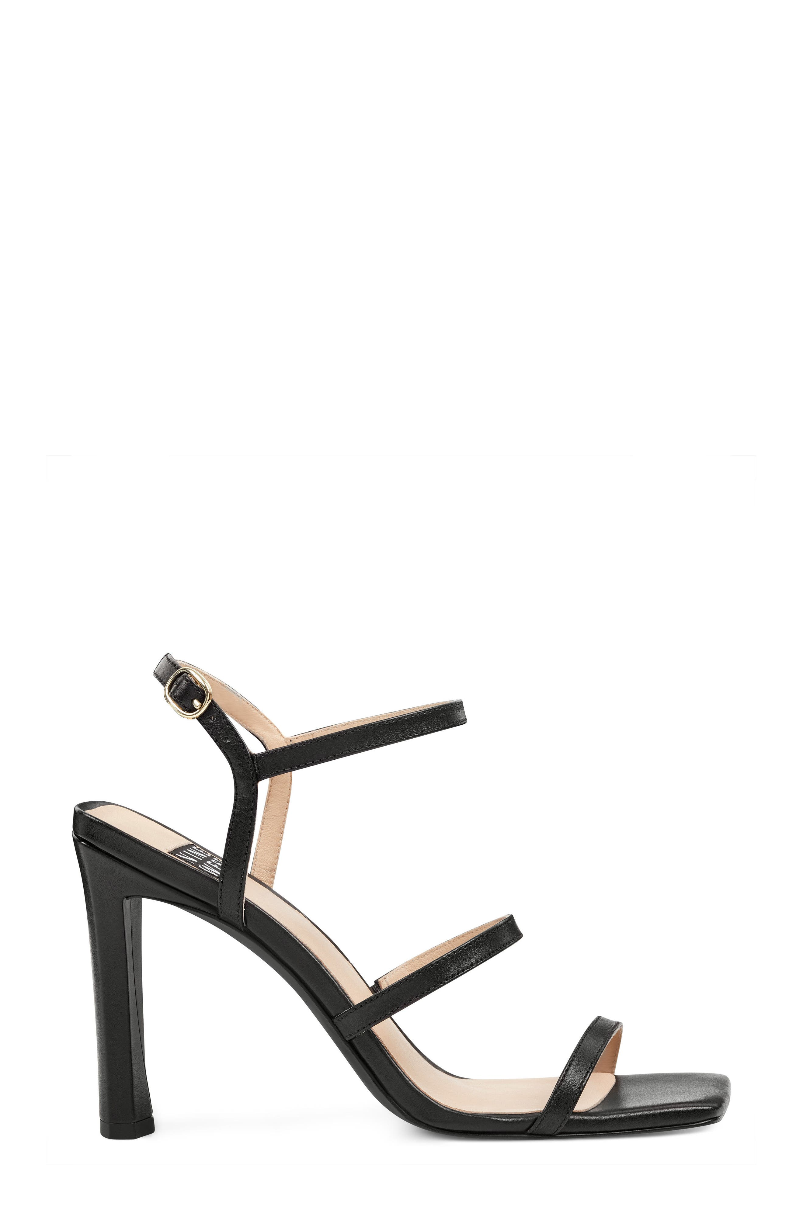Gabelle - 40th Anniversary Capsule Collection Sandal,                             Alternate thumbnail 3, color,                             BLACK LEATHER