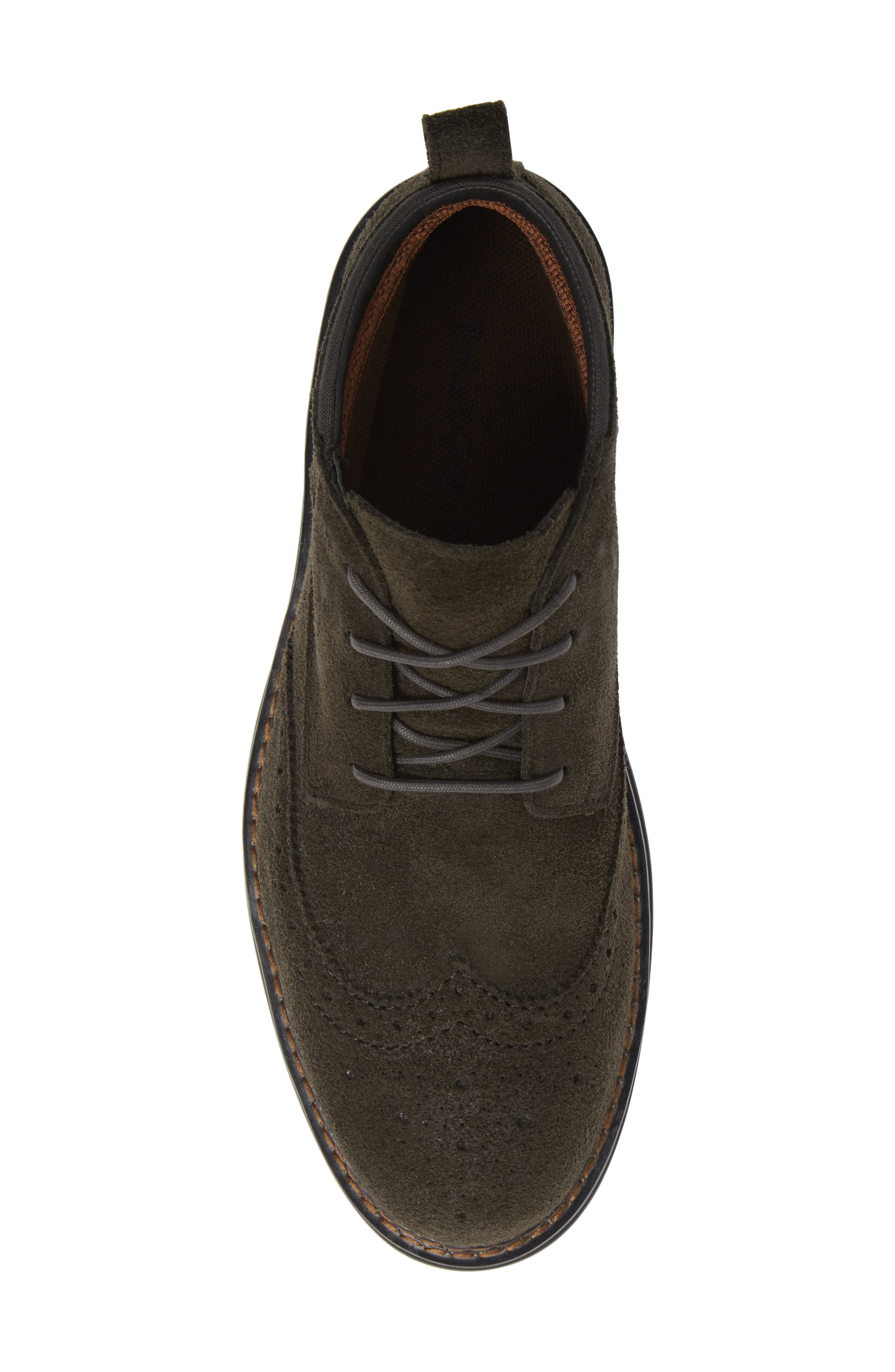 Squall Canyon Waterproof Wingtip Chukka Boot,                             Alternate thumbnail 5, color,                             VINTAGE GREEN SUEDE