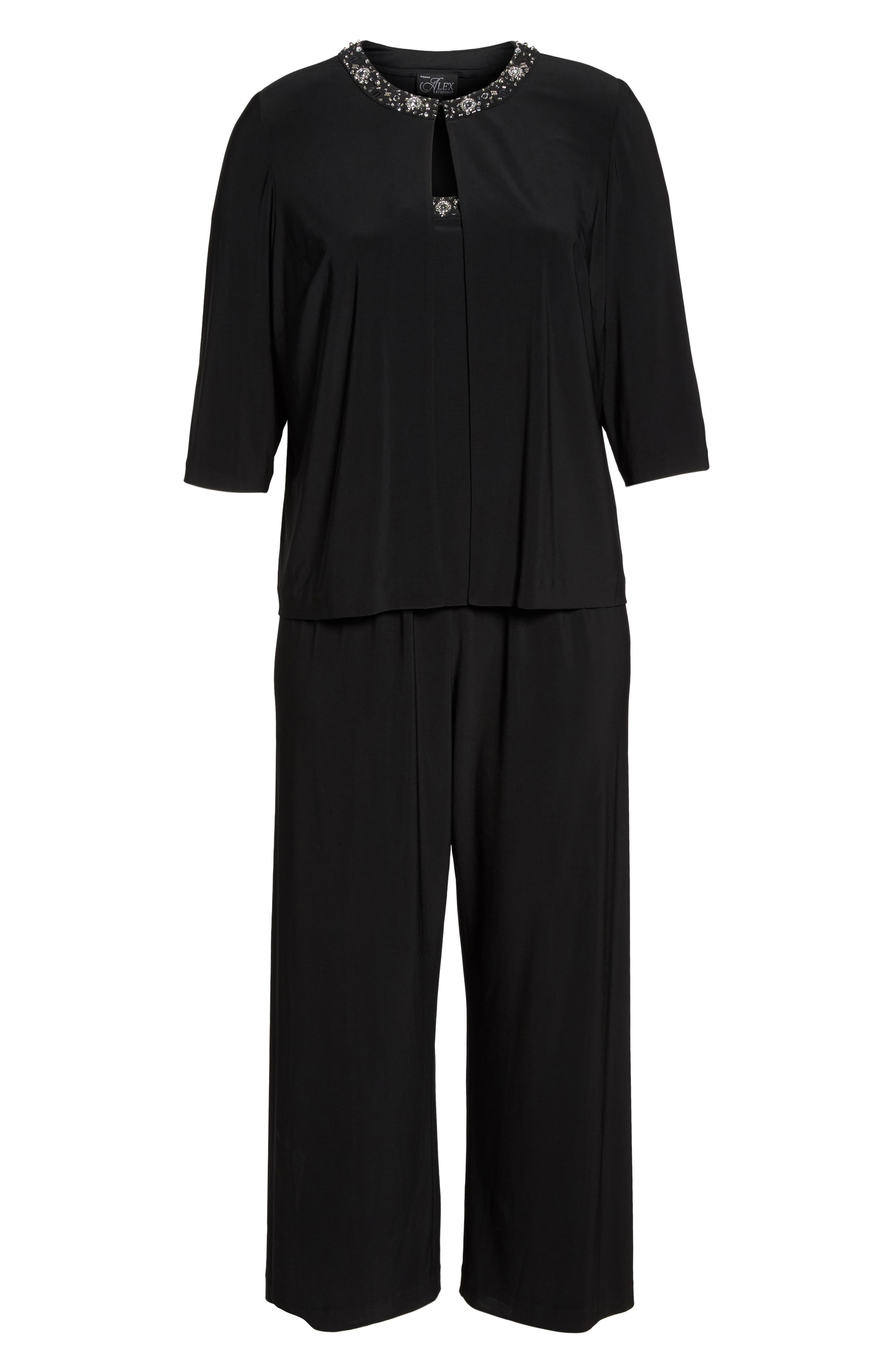 Embellished Three-Piece Pant Suit,                             Alternate thumbnail 6, color,