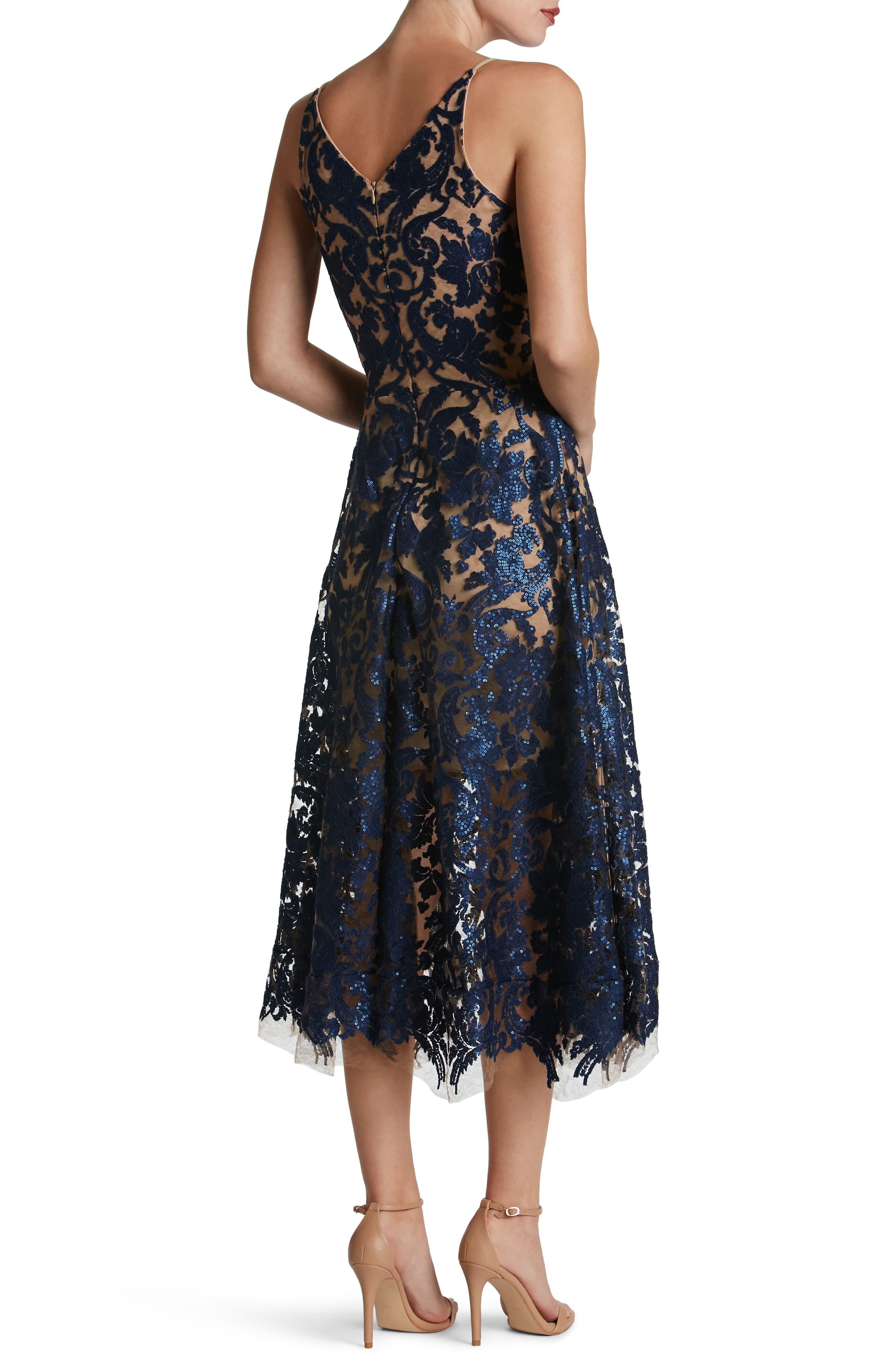 Blair Embellished Fit & Flare Dress,                             Alternate thumbnail 12, color,