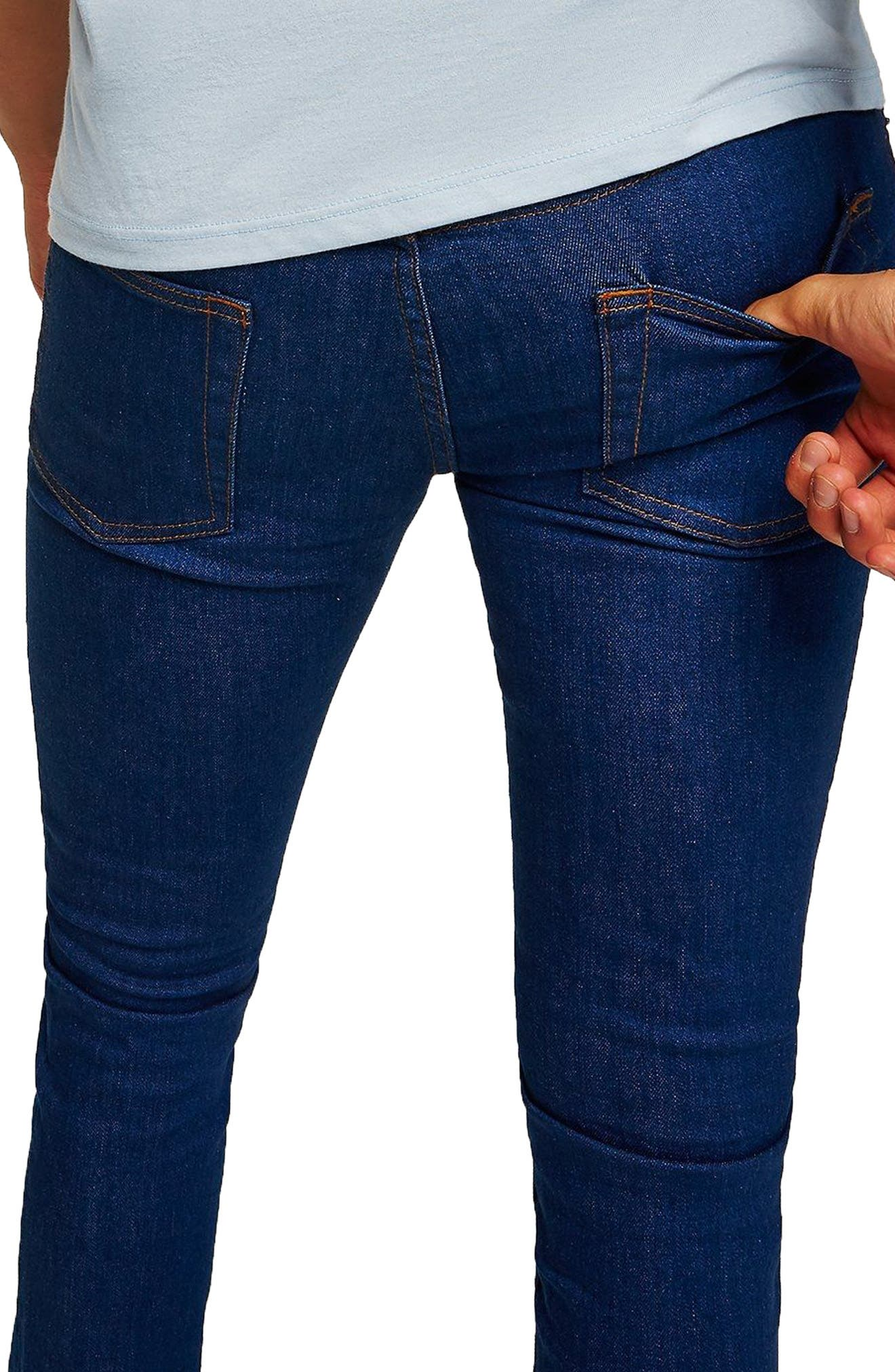 Stretch Skinny Fit Jeans,                             Alternate thumbnail 3, color,                             400