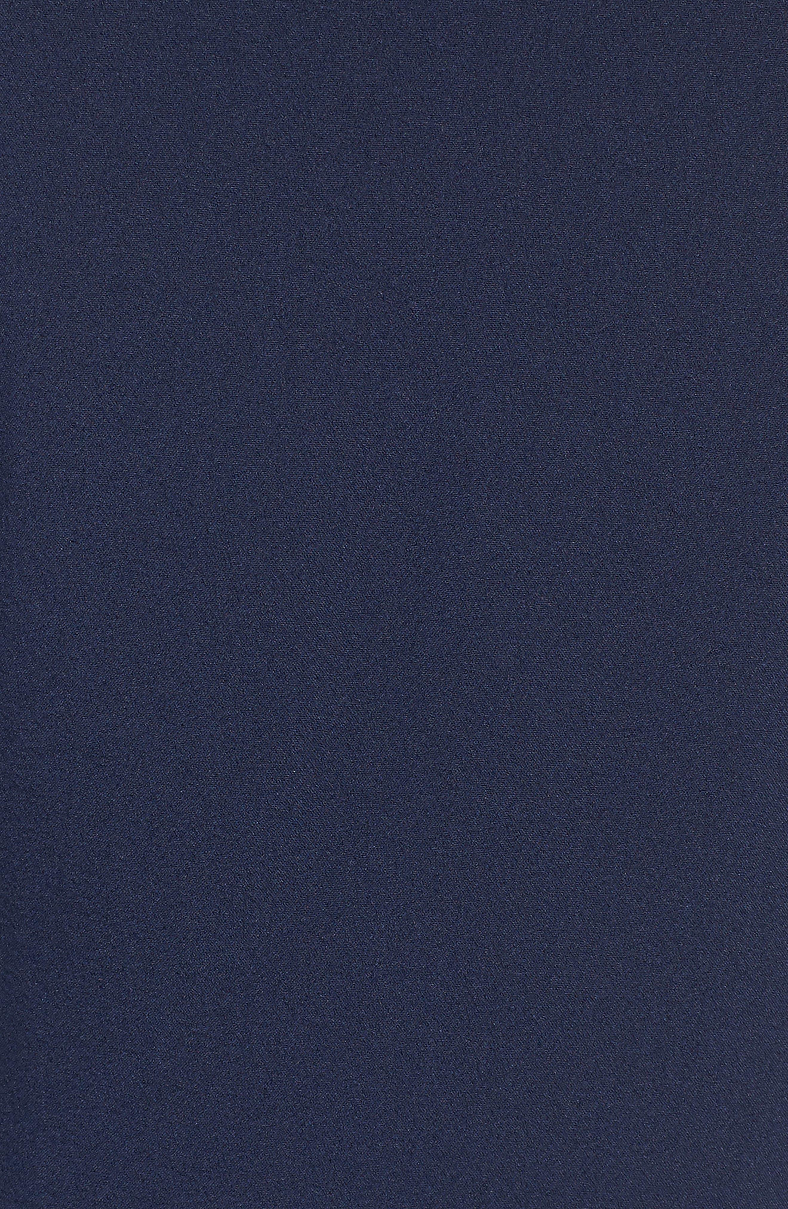 Brigitte Midi Dress,                             Alternate thumbnail 6, color,                             NAVY