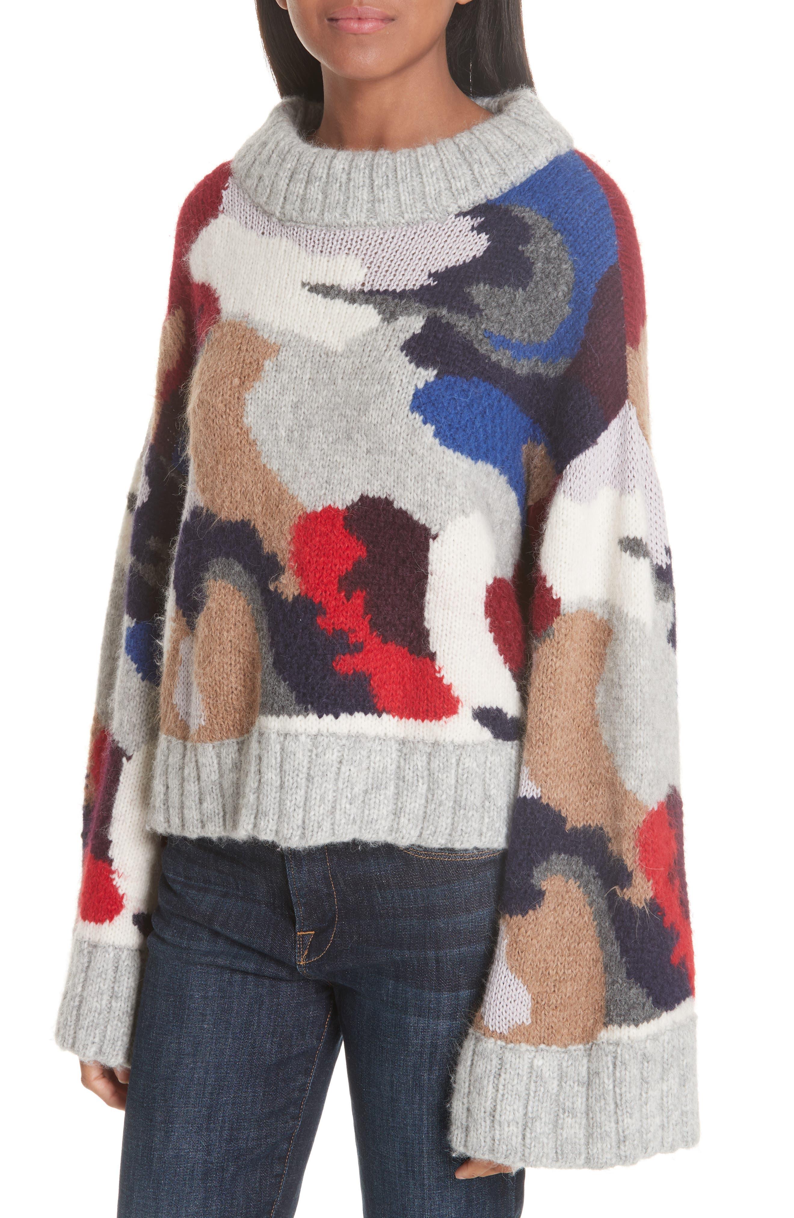 Kira Alpaca Blend Sweater,                             Alternate thumbnail 4, color,                             020
