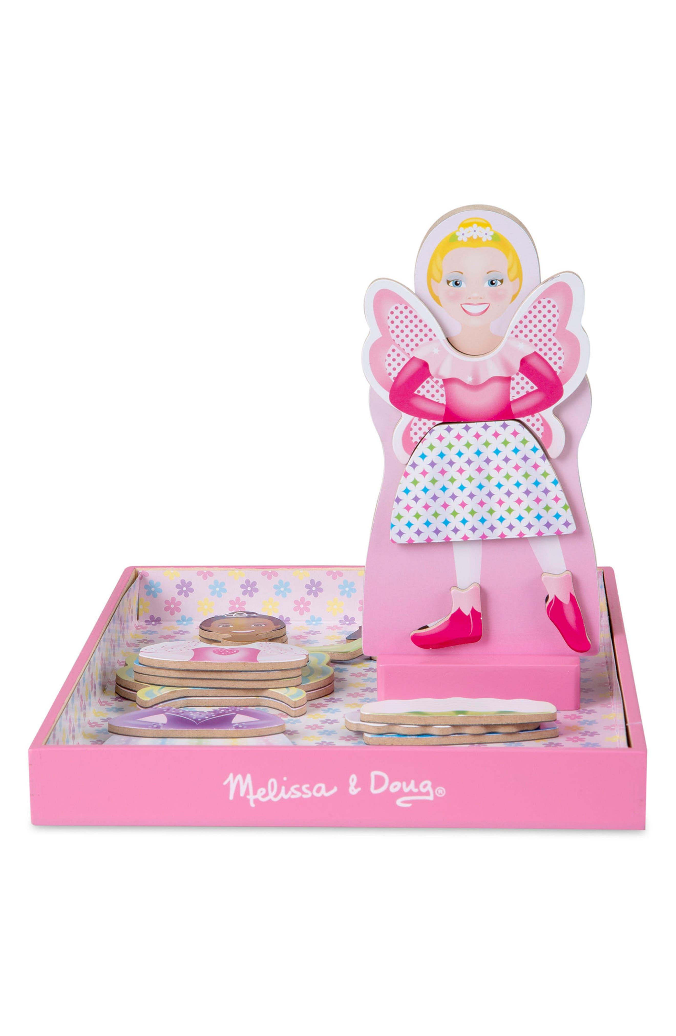 MELISSA & DOUG,                             33-Piece Tutus & Wings Magnetic Dress-Up Doll,                             Alternate thumbnail 2, color,                             650